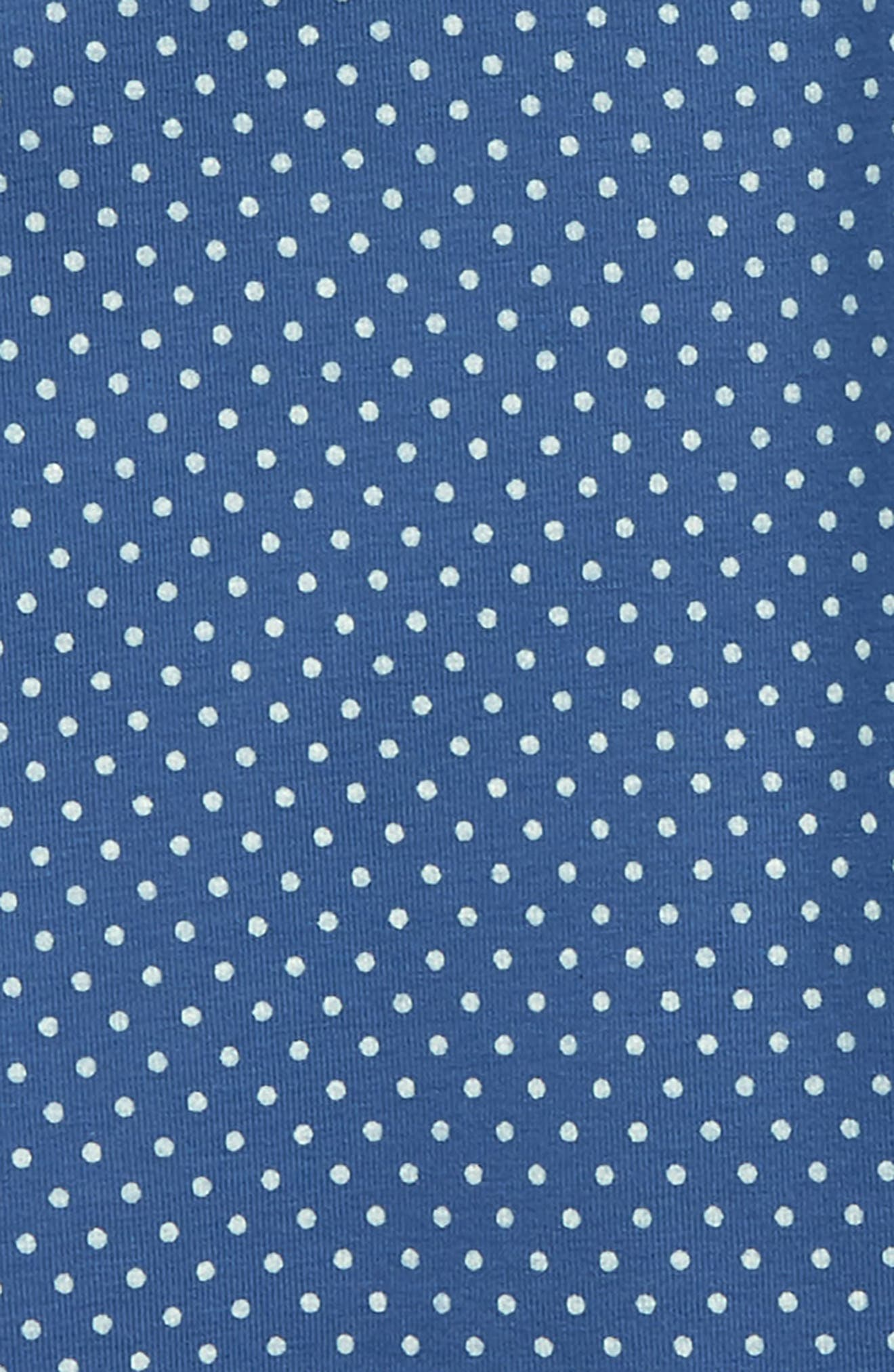 Pin Dot Capri Leggings,                             Alternate thumbnail 2, color,                             Cobalt