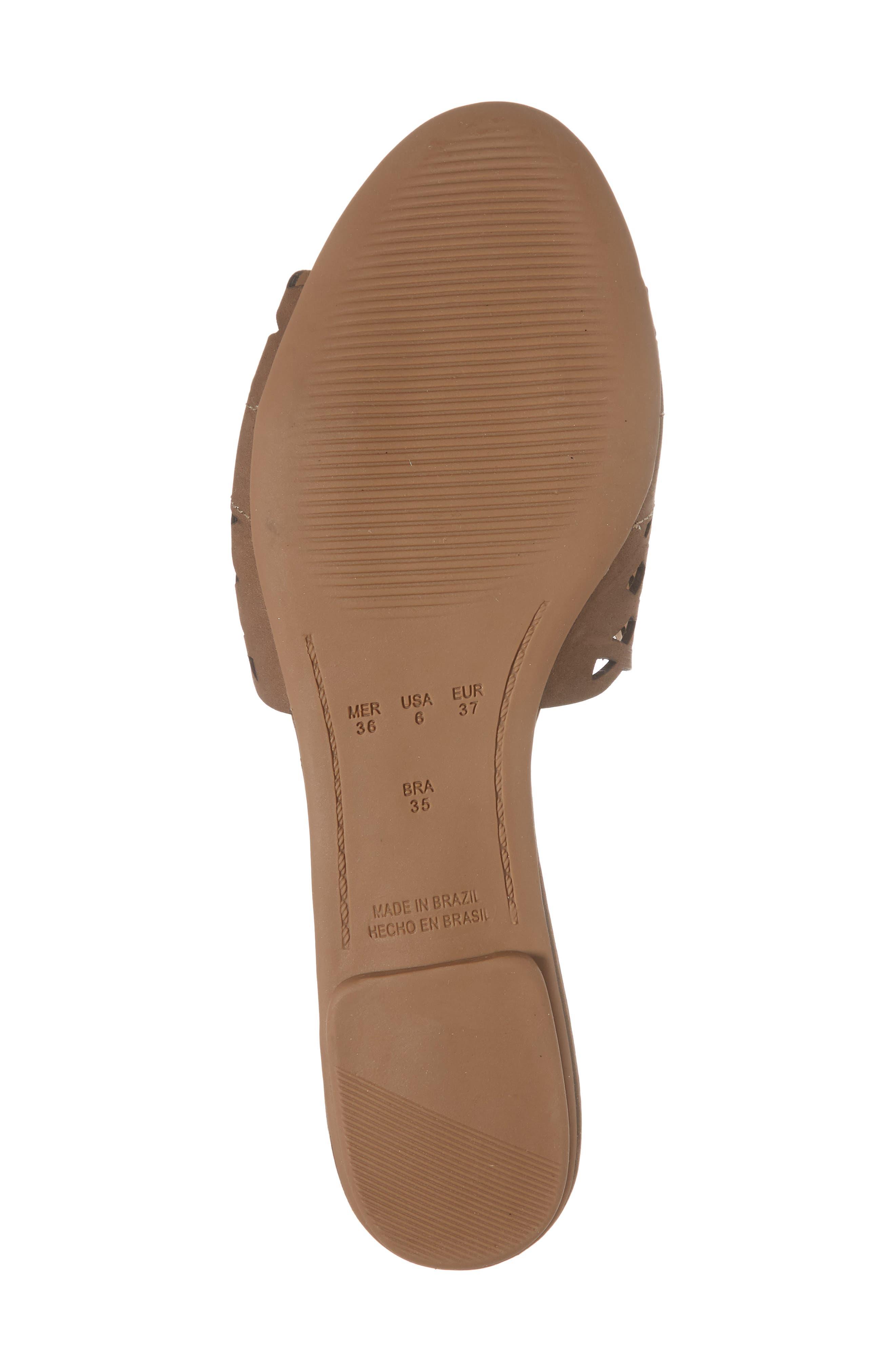 Gynne Slide Sandal,                             Alternate thumbnail 6, color,                             Truffle Leather
