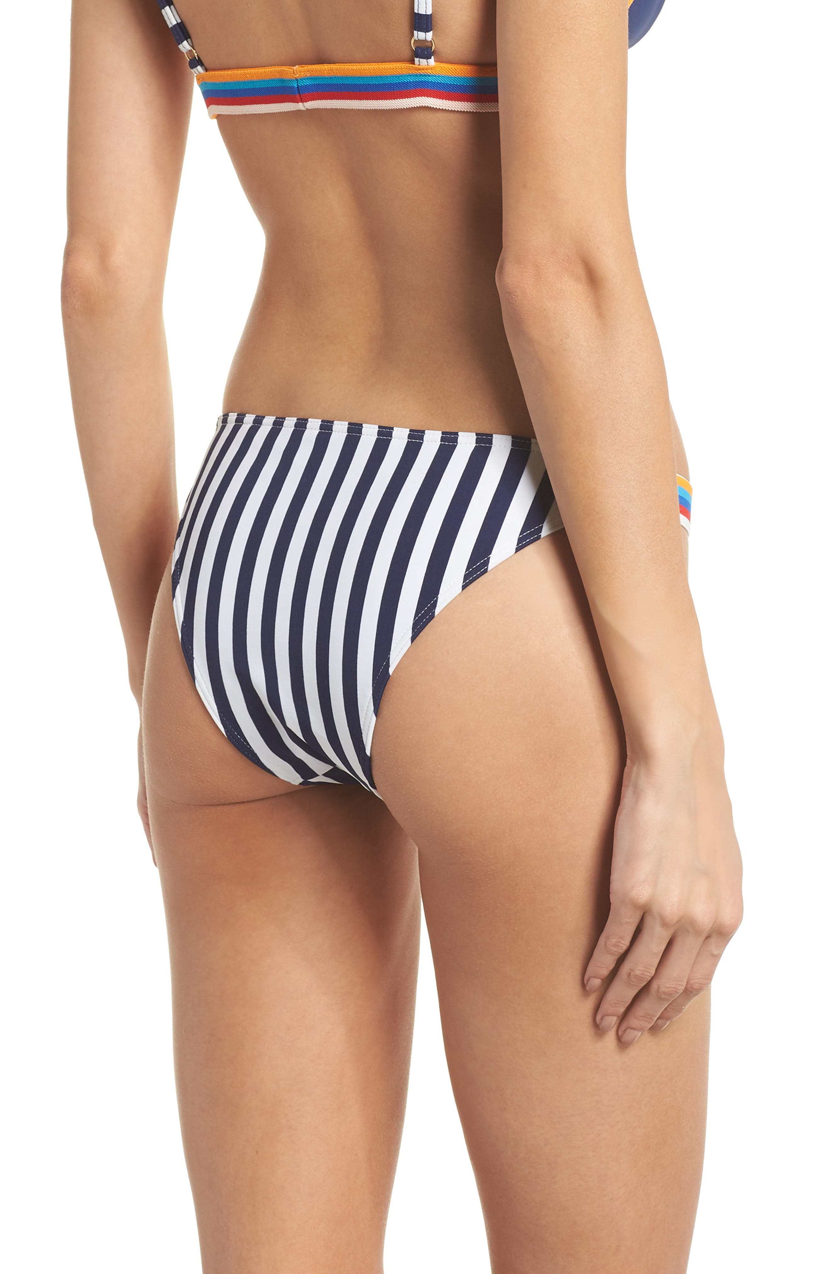 Sizzle Bikini Bottoms,                             Alternate thumbnail 2, color,                             Navy