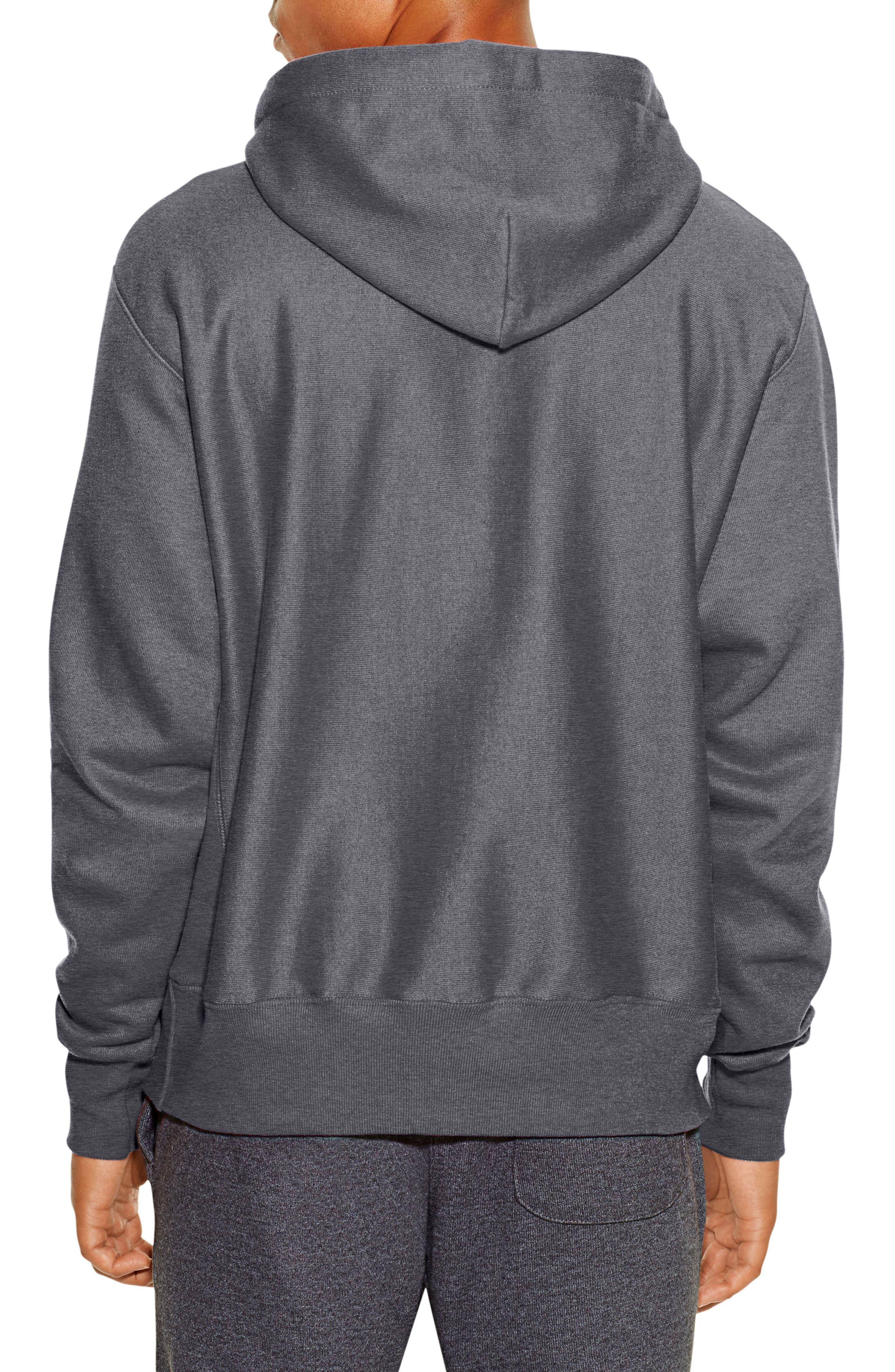 Reverse Weave<sup>®</sup> Pullover Hoodie,                             Alternate thumbnail 2, color,                             Granite Heather