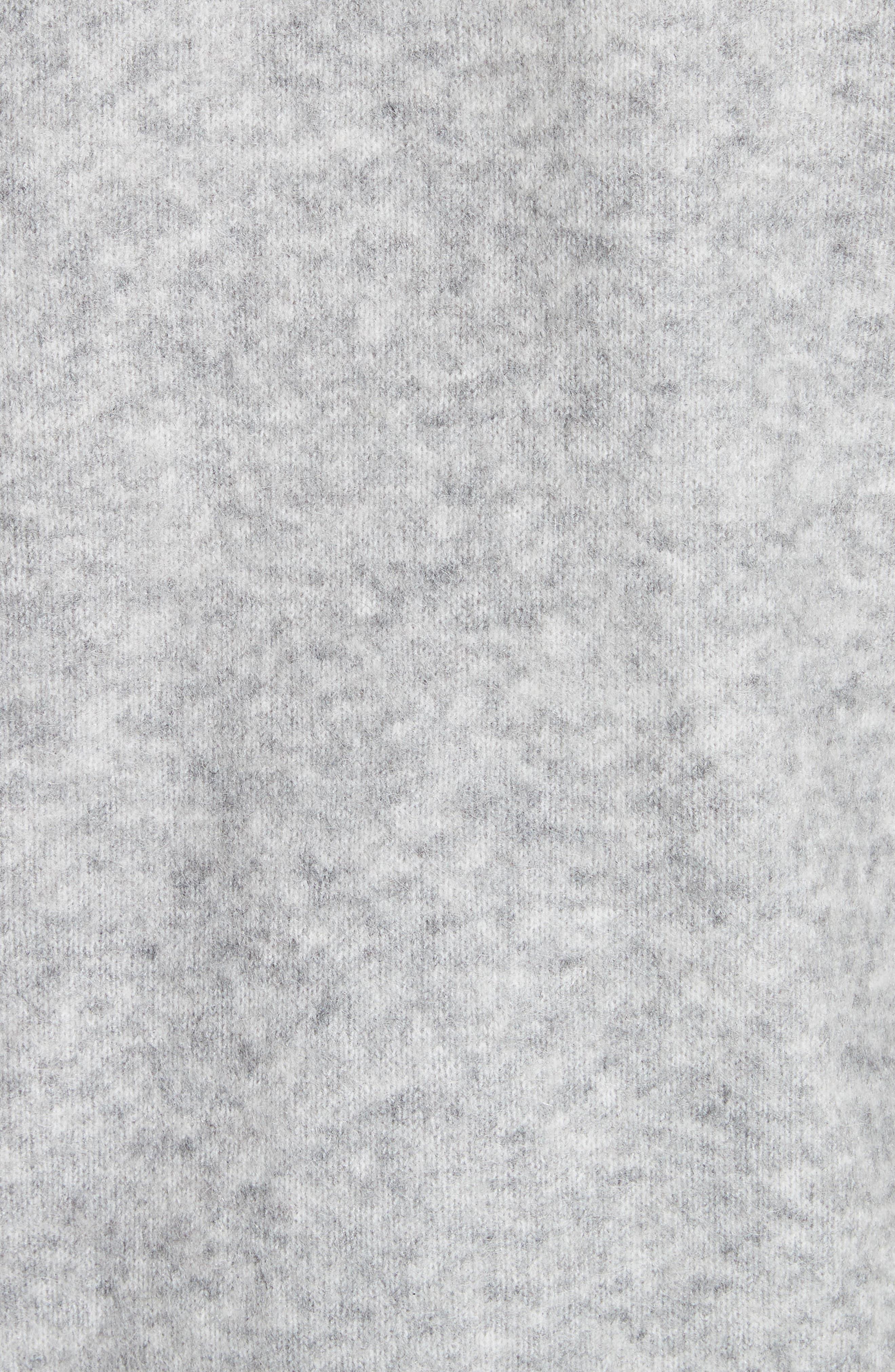 Raya Sh Mohair Knit Cardigan,                             Alternate thumbnail 4, color,                             Husky Grey