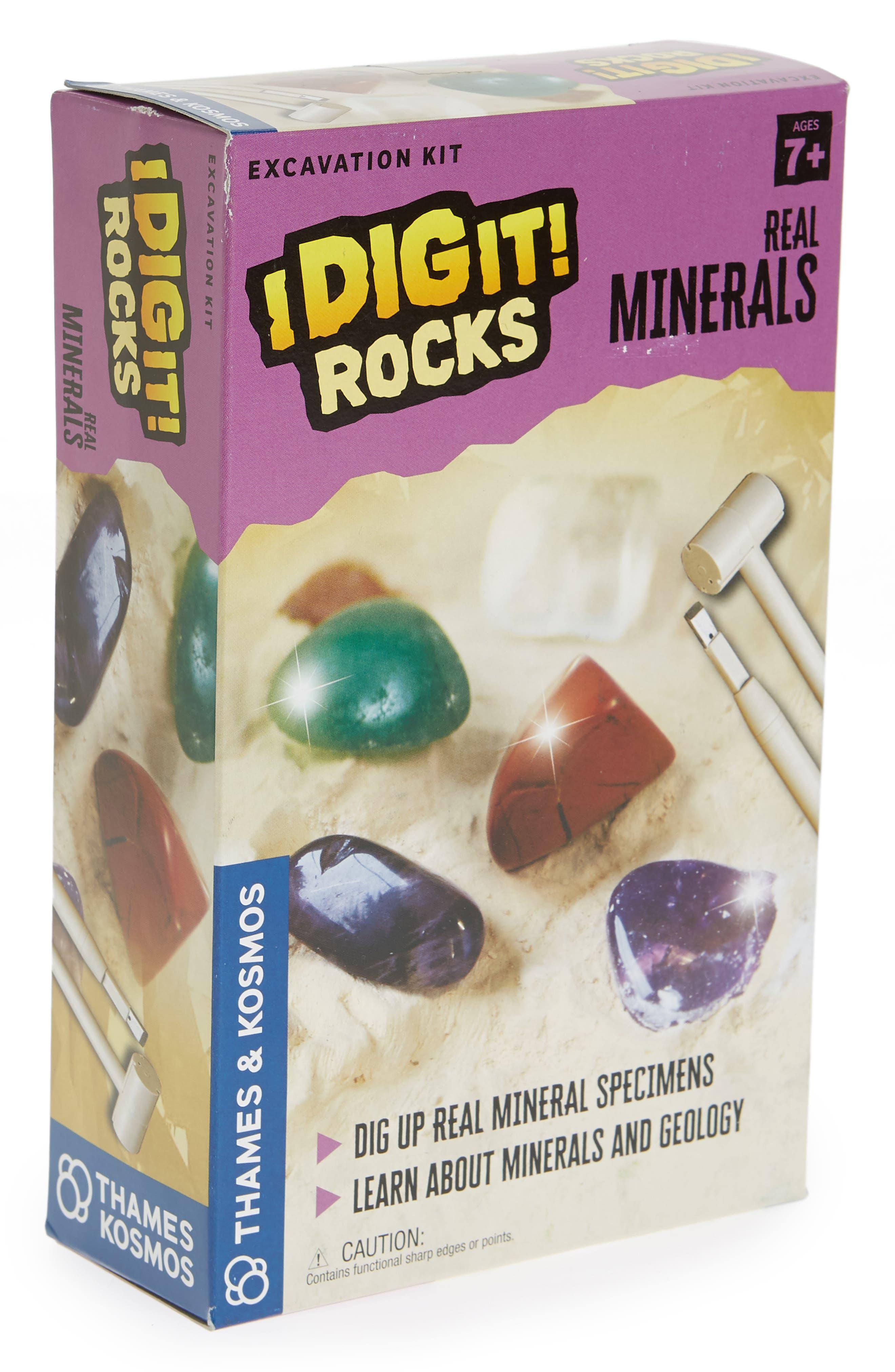 I Dig It! Real Minerals Excavation Kit,                         Main,                         color, Beige