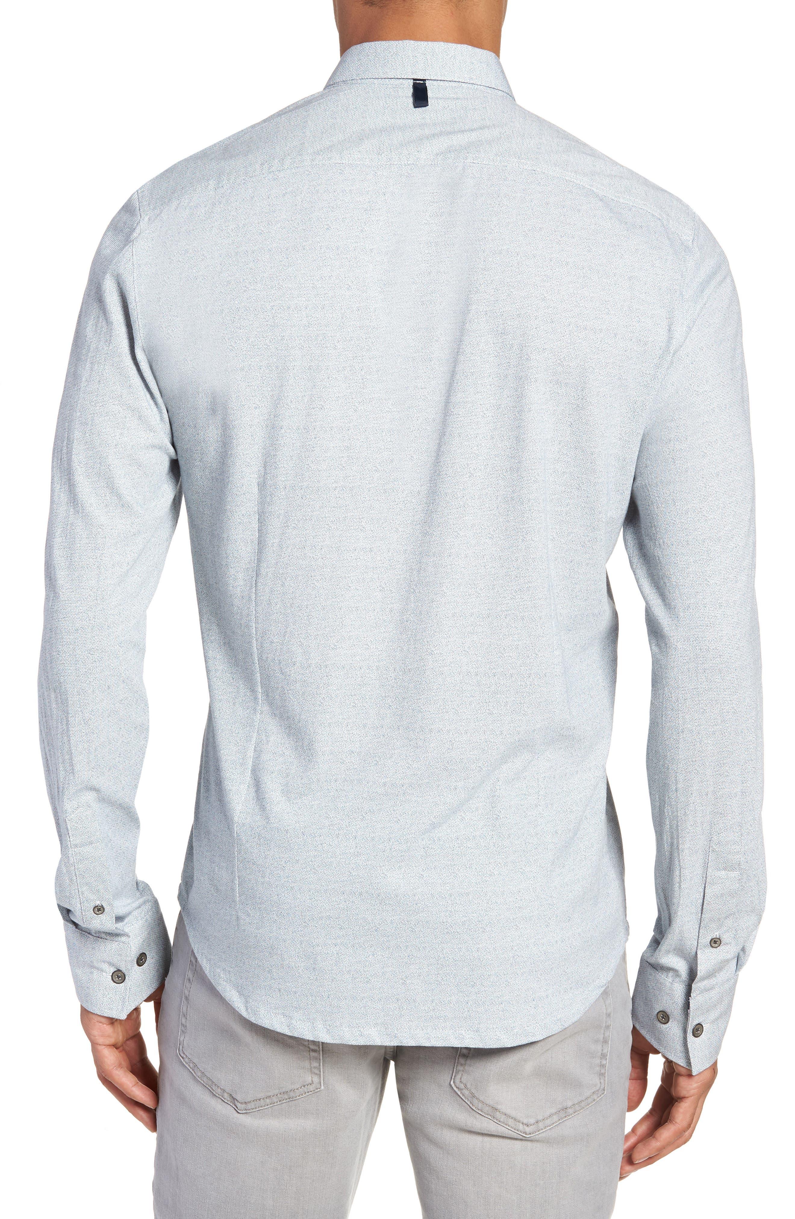 Reworked Slim Fit Speckled Sport Shirt,                             Alternate thumbnail 2, color,                             Blue