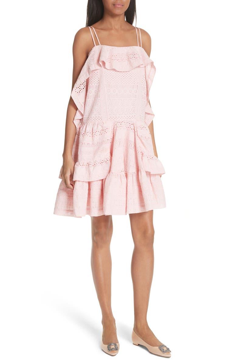 Deconstructed Broderie Dress