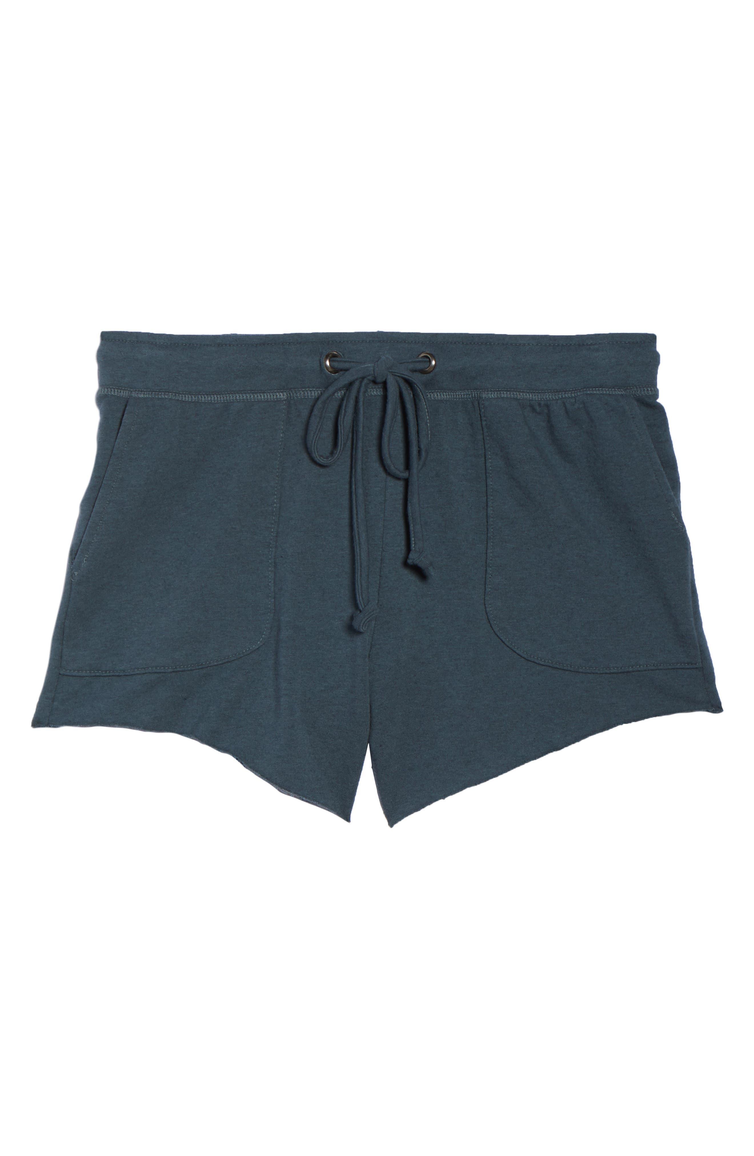 Raw Cut Lounge Shorts,                             Alternate thumbnail 4, color,                             Gunmetal