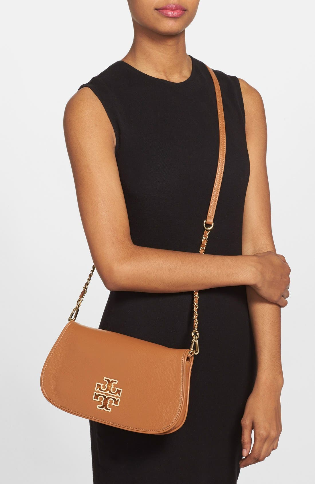 Alternate Image 2  - Tory Burch 'Britten' Leather Clutch