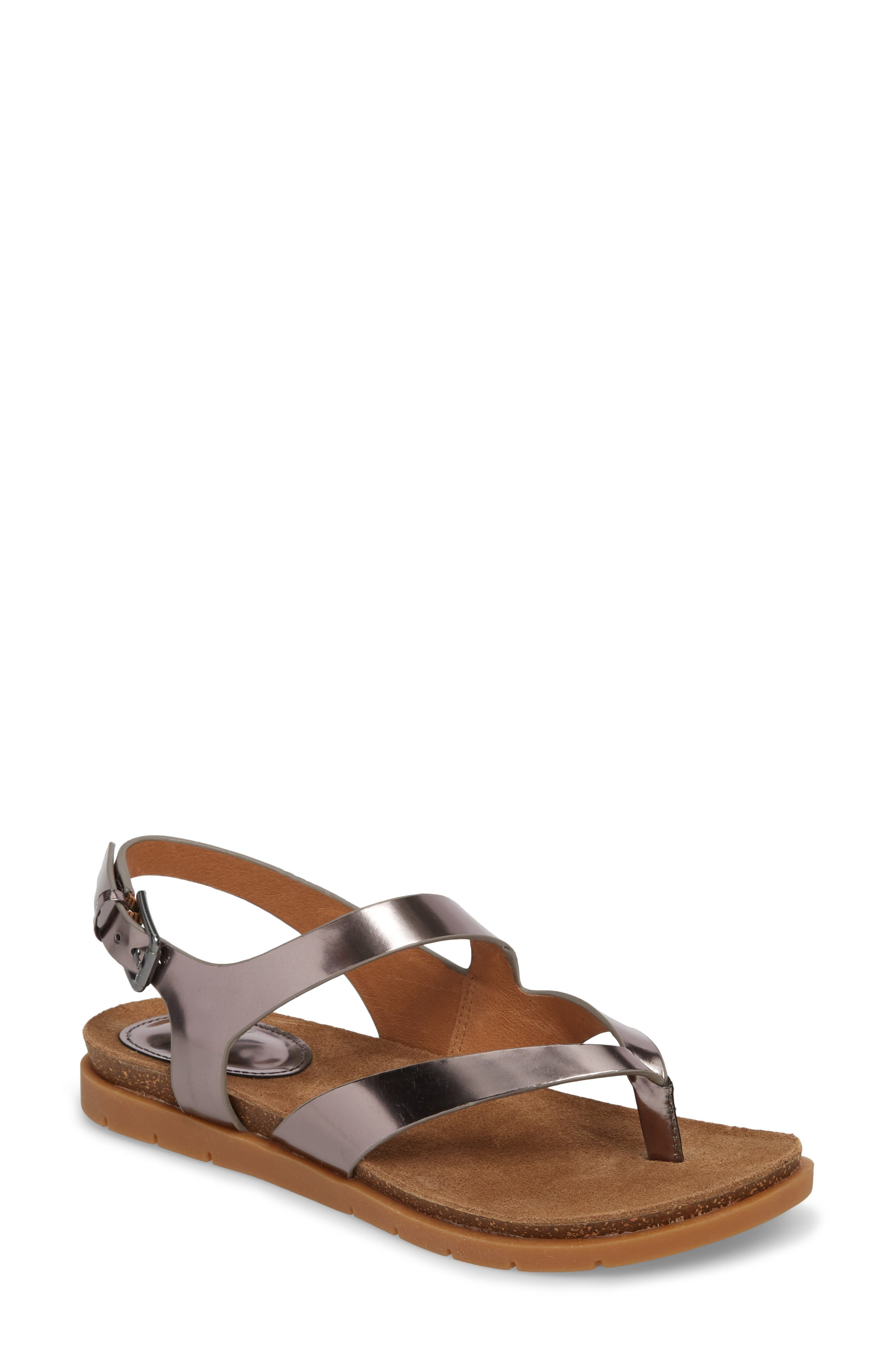 Rory Sandal,                         Main,                         color, Pewter Metallic Leather