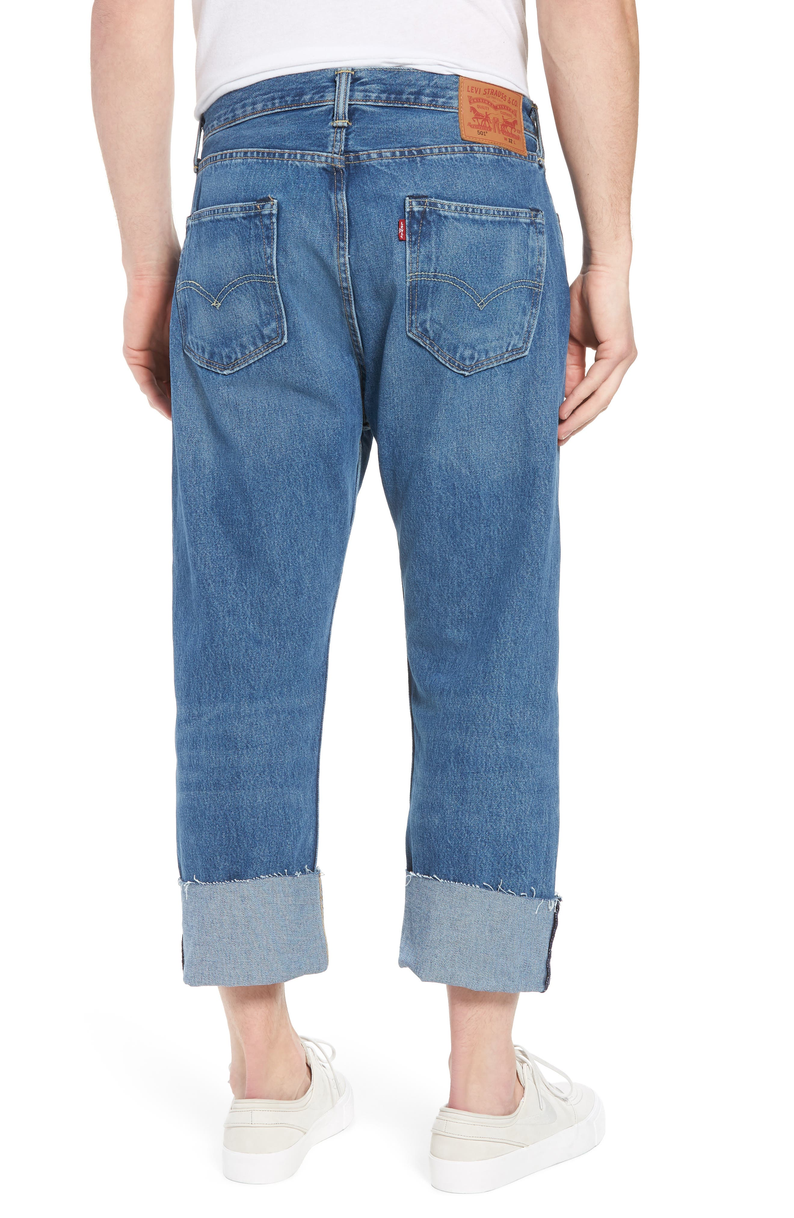 Alternate Image 2  - Levi's® 501™ Straight Leg Jeans (Bunker Indigo)