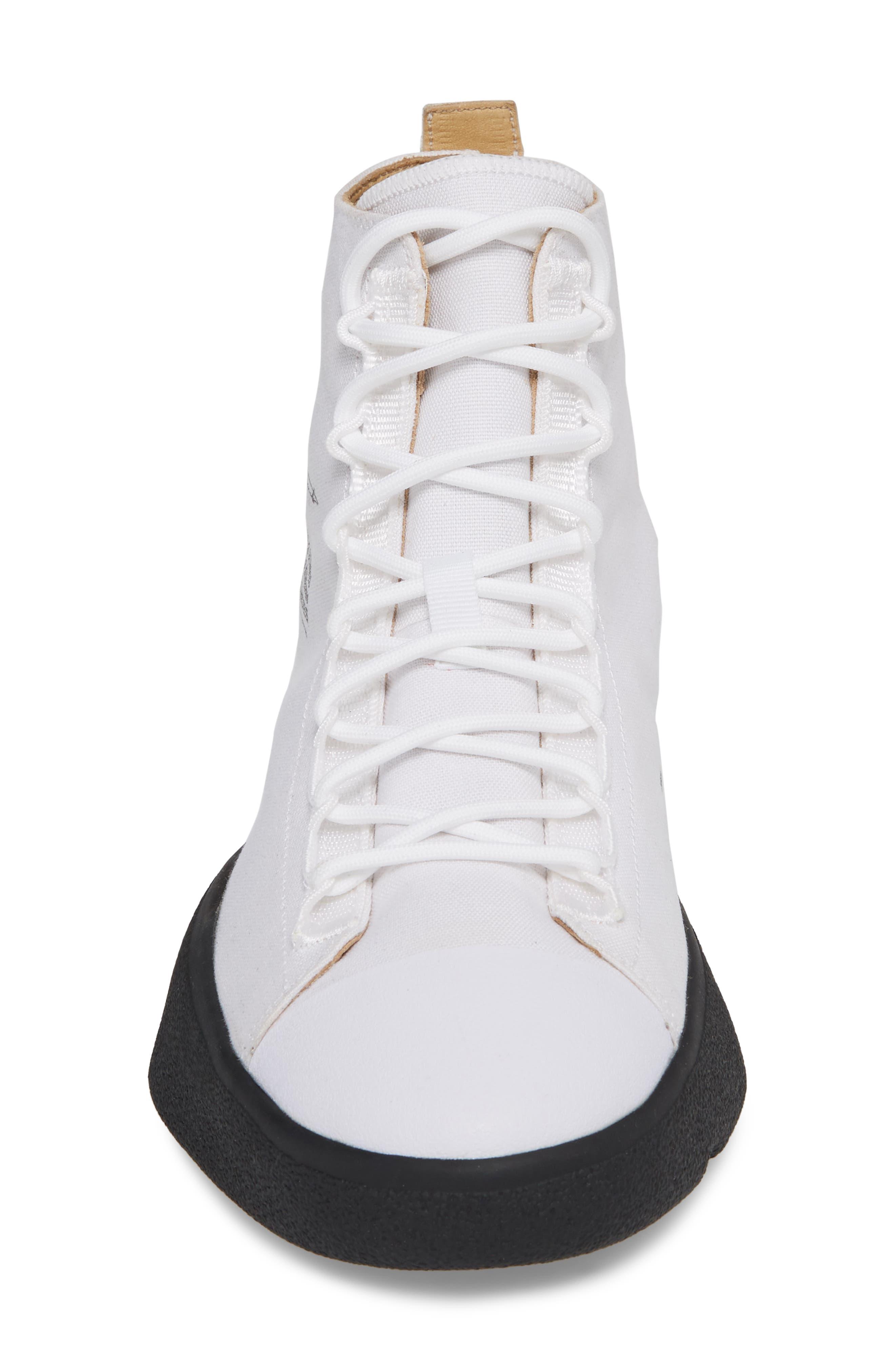 Bashyo High Top Sneaker,                             Alternate thumbnail 4, color,                             White/ Black