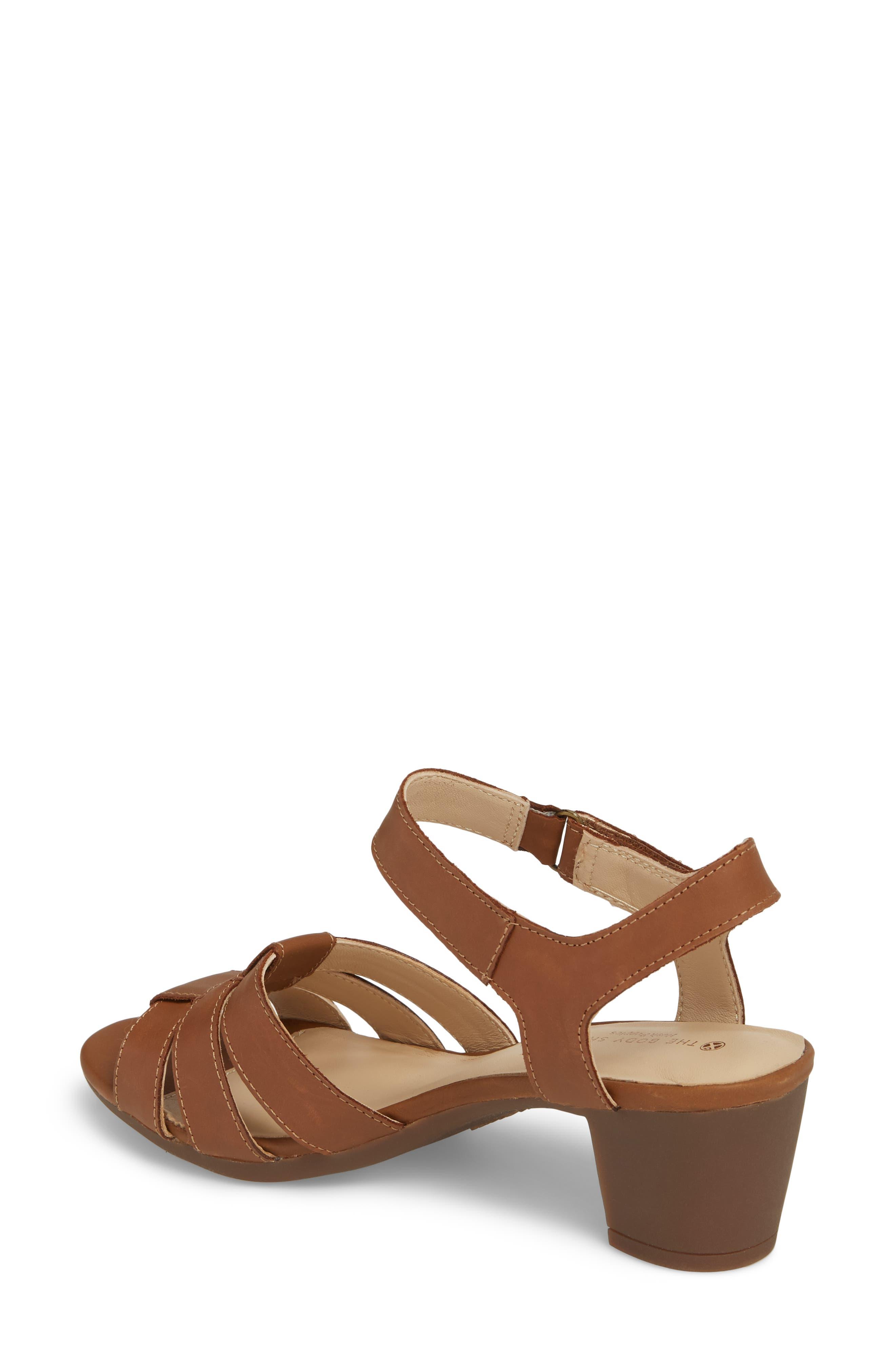 Masseter Quarter Strap Sandal,                             Alternate thumbnail 2, color,                             Tan Leather