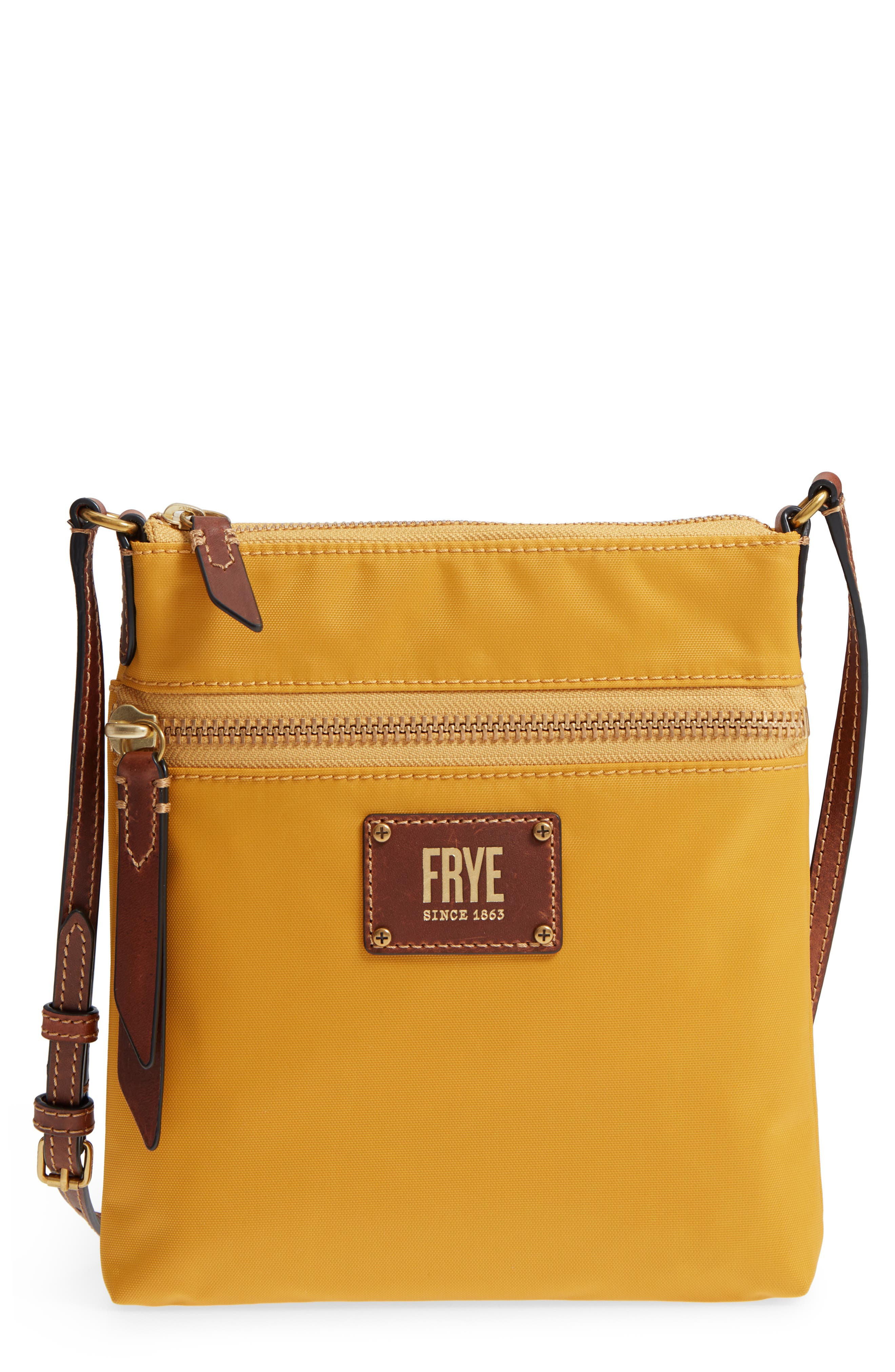 37612afaa1 FRYE IVY NYLON CROSSBODY BAG - YELLOW