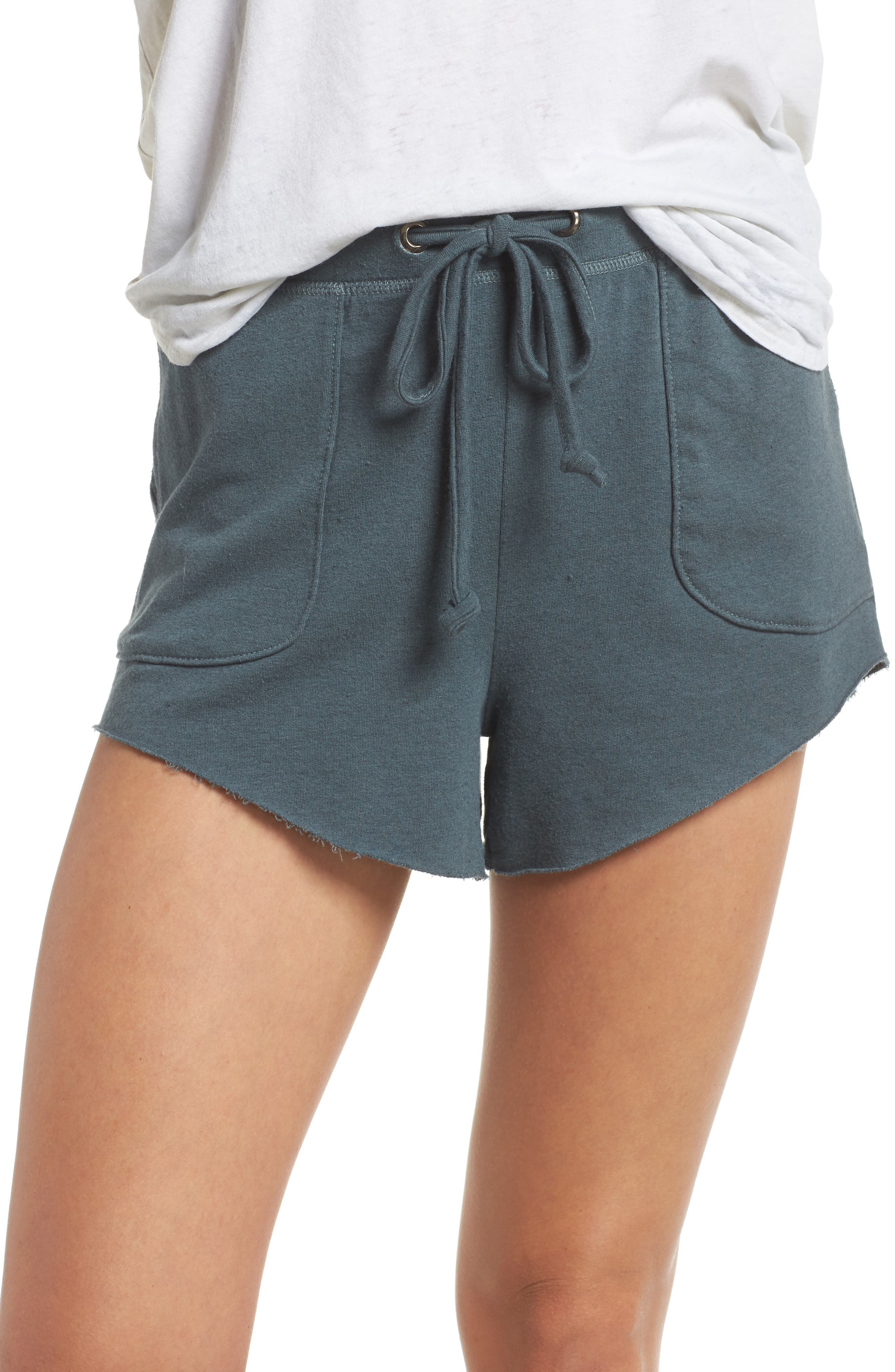 Raw Cut Lounge Shorts,                         Main,                         color, Gunmetal