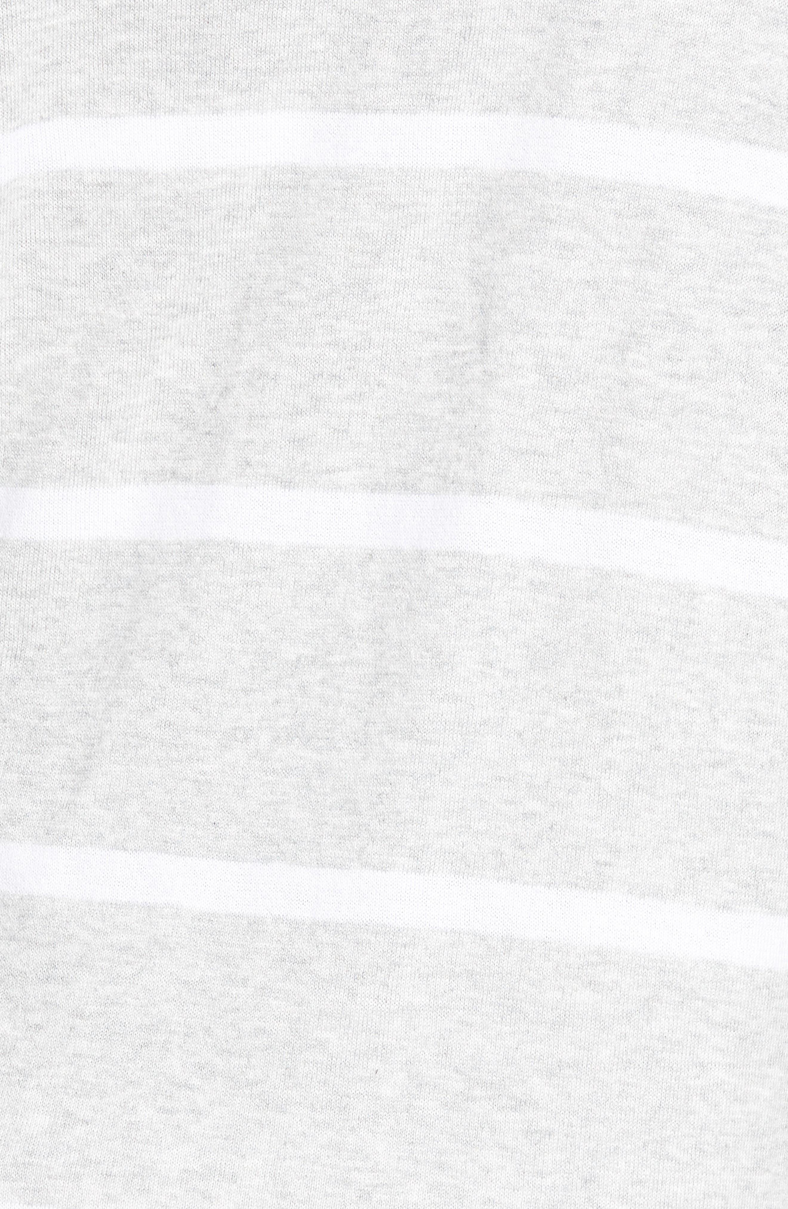 Flyaway Stripe Hoodie Cardigan,                             Alternate thumbnail 6, color,                             Pebble Grey Mex/ Warm White