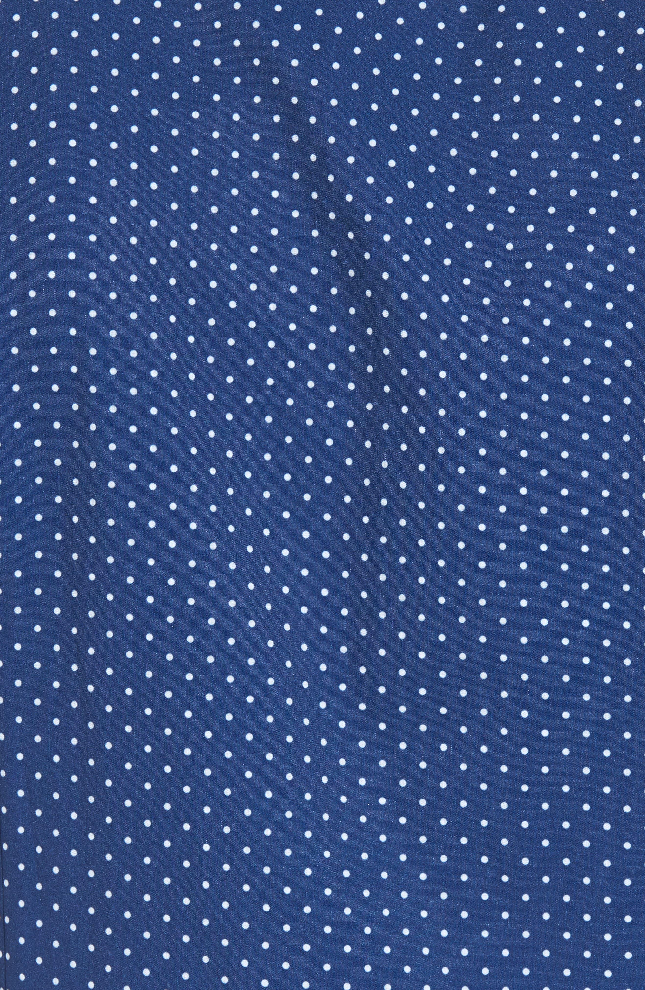 Crosby Slim Fit Dot Performance Sport Shirt,                             Alternate thumbnail 5, color,                             Navy