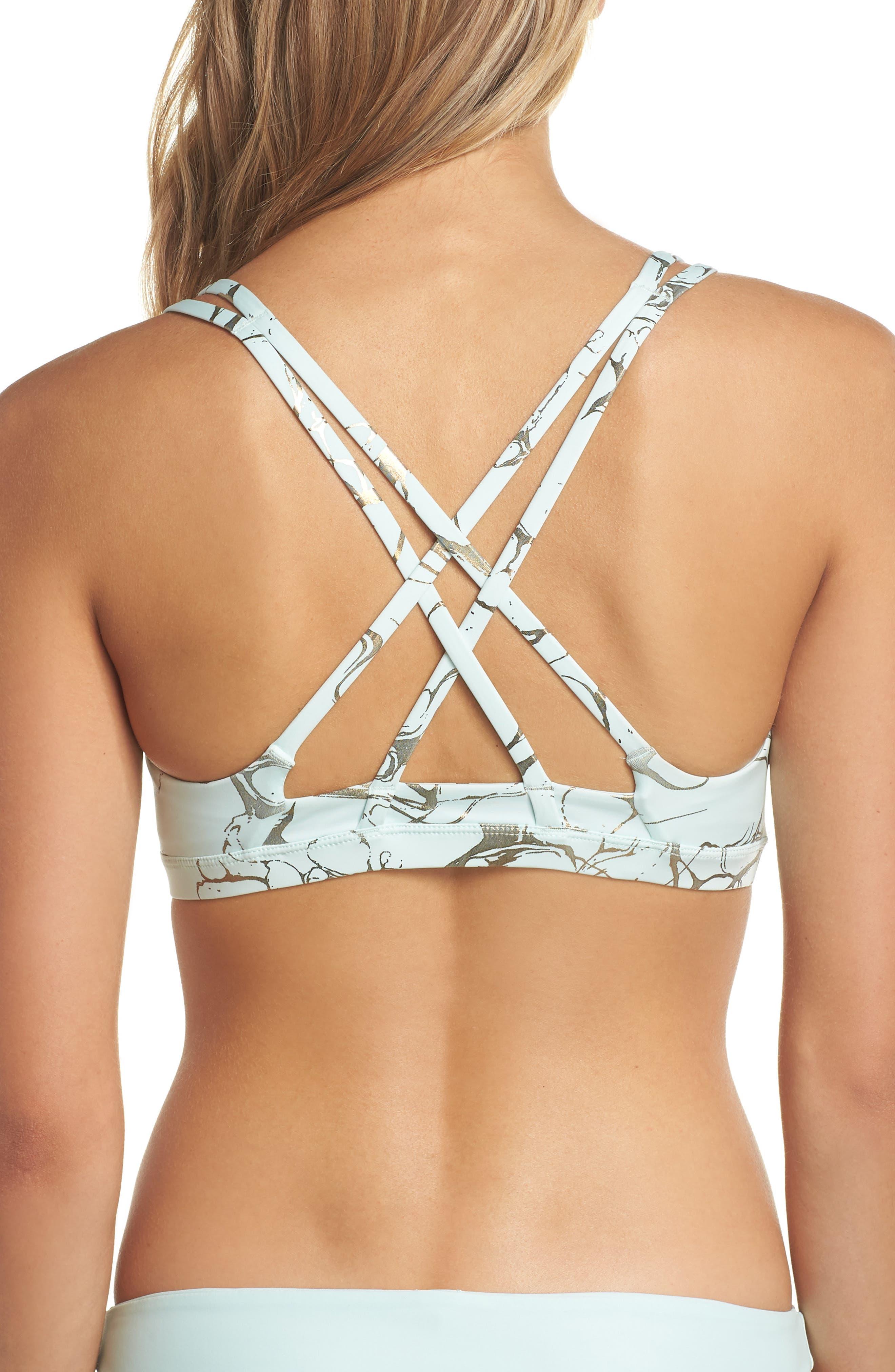 Quick Dry Max Decay Bikini Top,                             Alternate thumbnail 2, color,                             Igloo