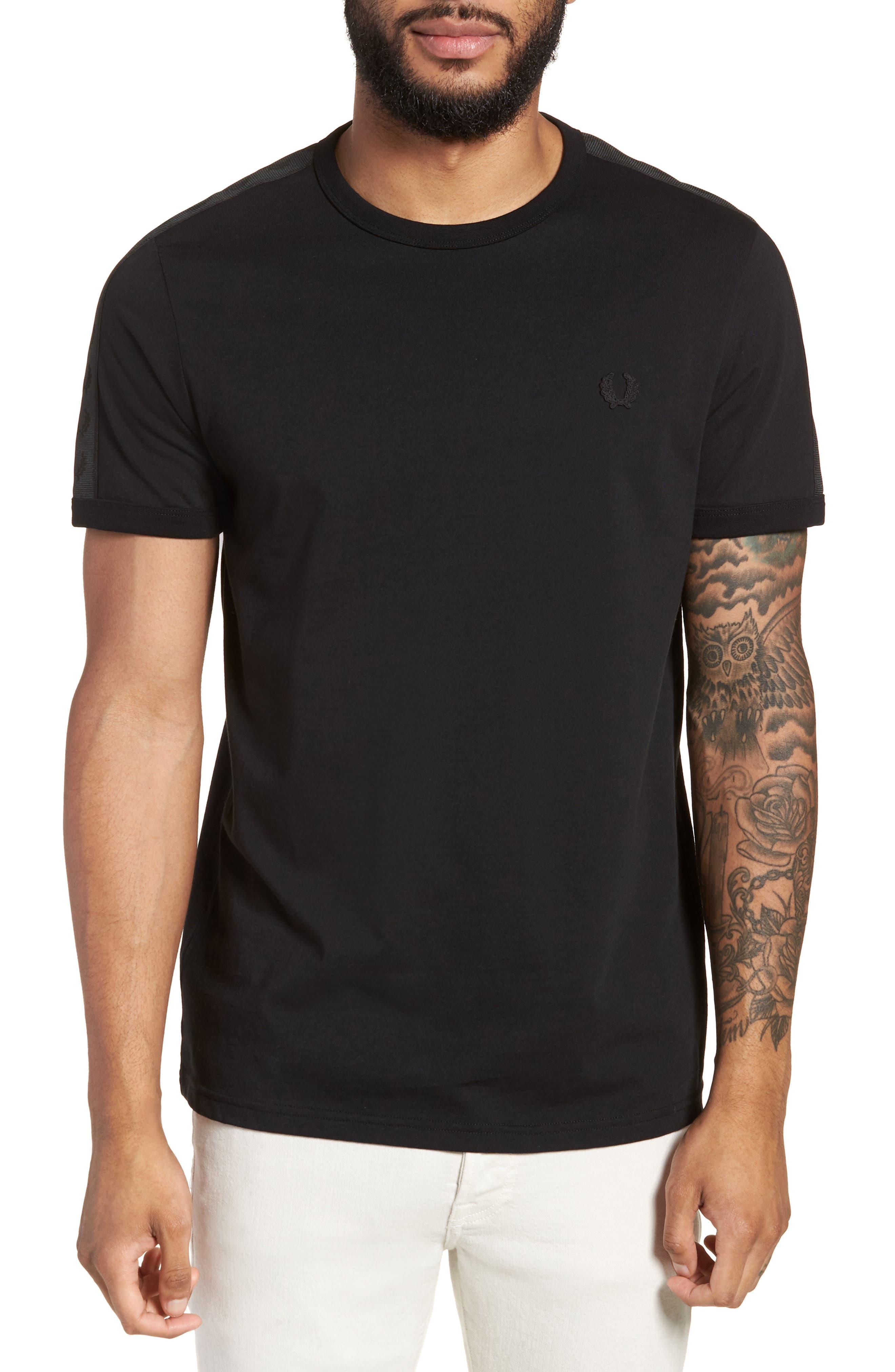 Tonal Tape T-Shirt,                         Main,                         color, Black