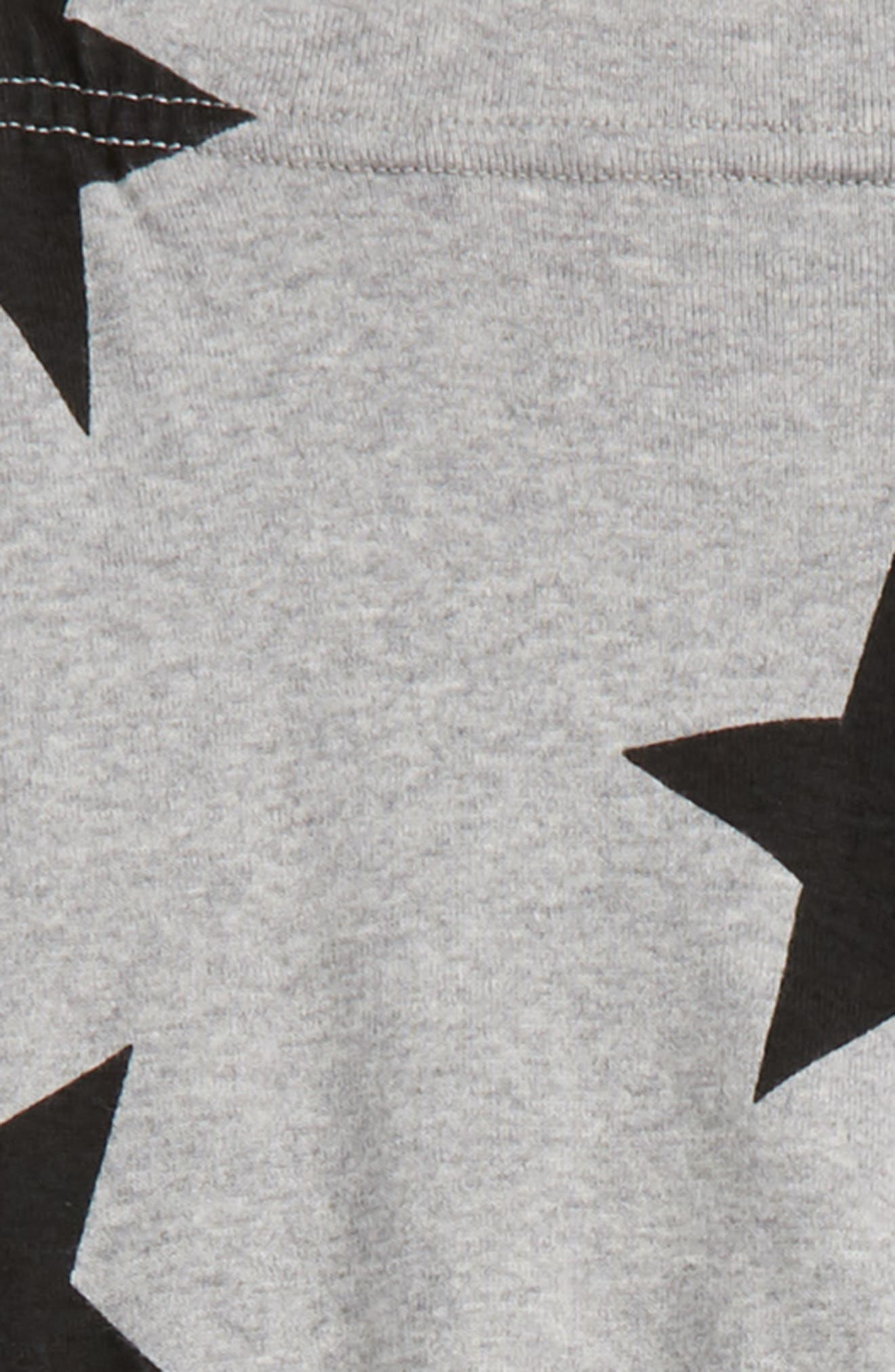 Star Print Leggings,                             Alternate thumbnail 2, color,                             Heather Grey