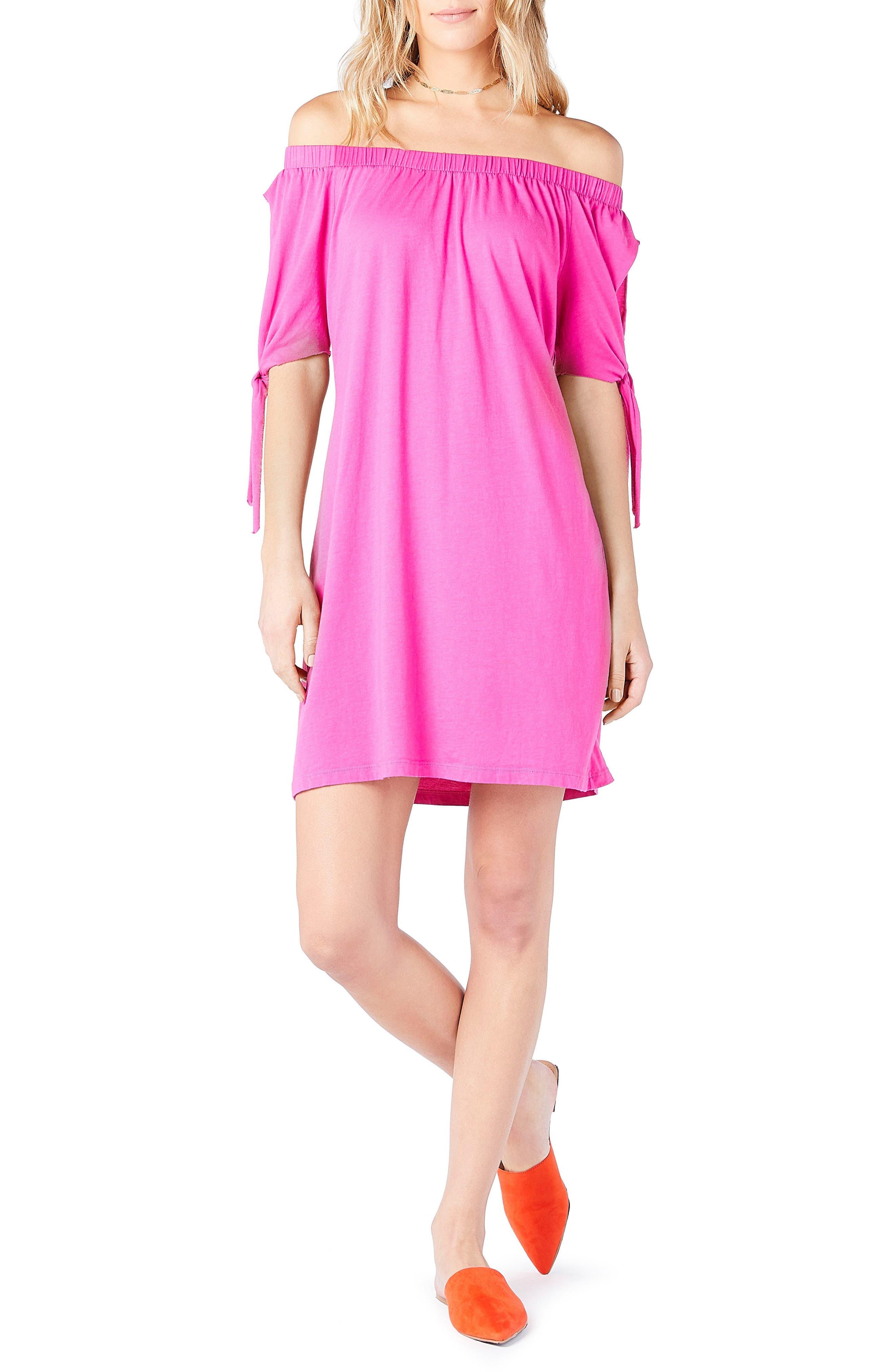 Off the Shoulder Dress,                         Main,                         color, Calypso