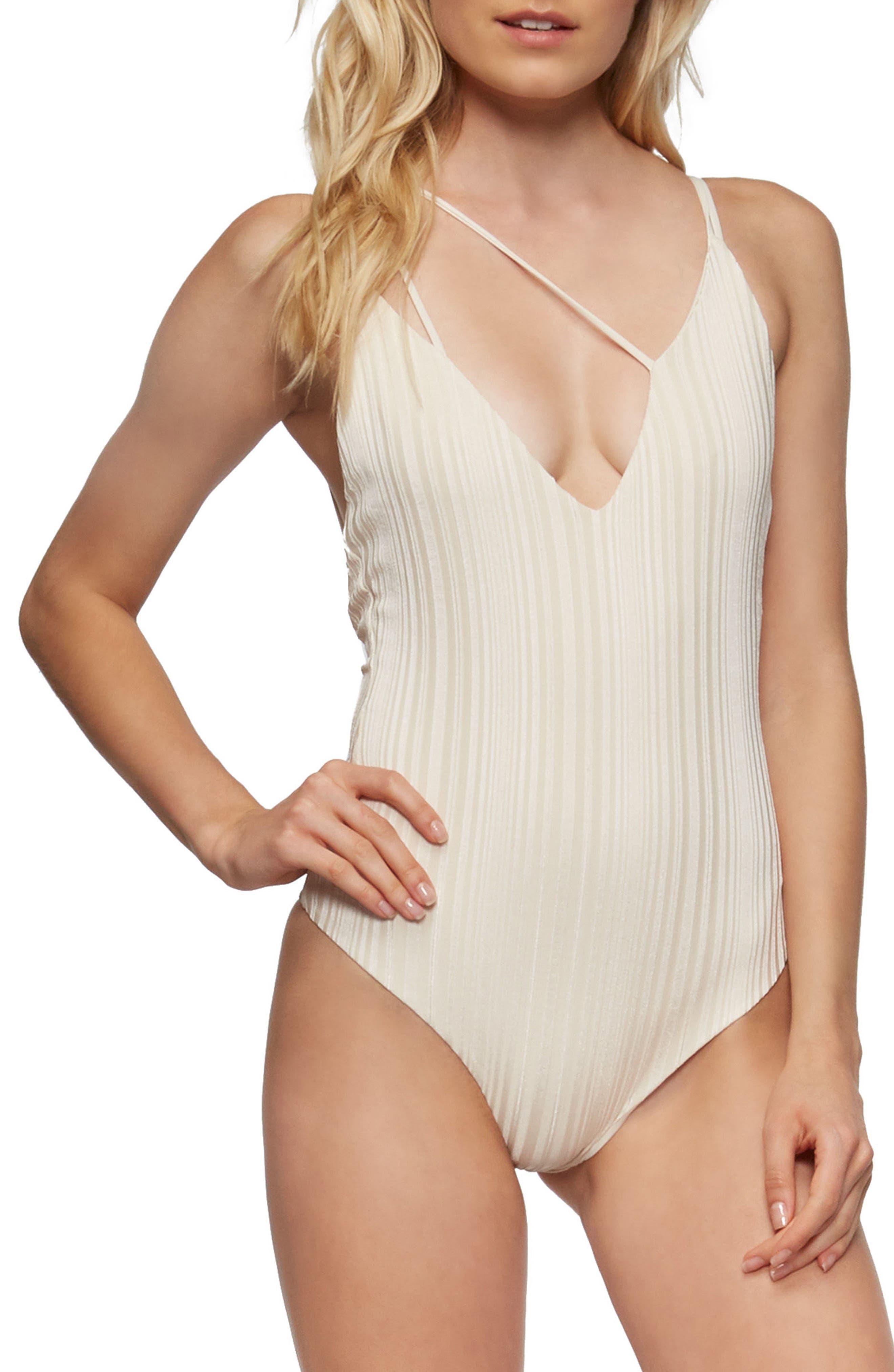 Coppola One-Piece Swimsuit,                         Main,                         color, Tapioca