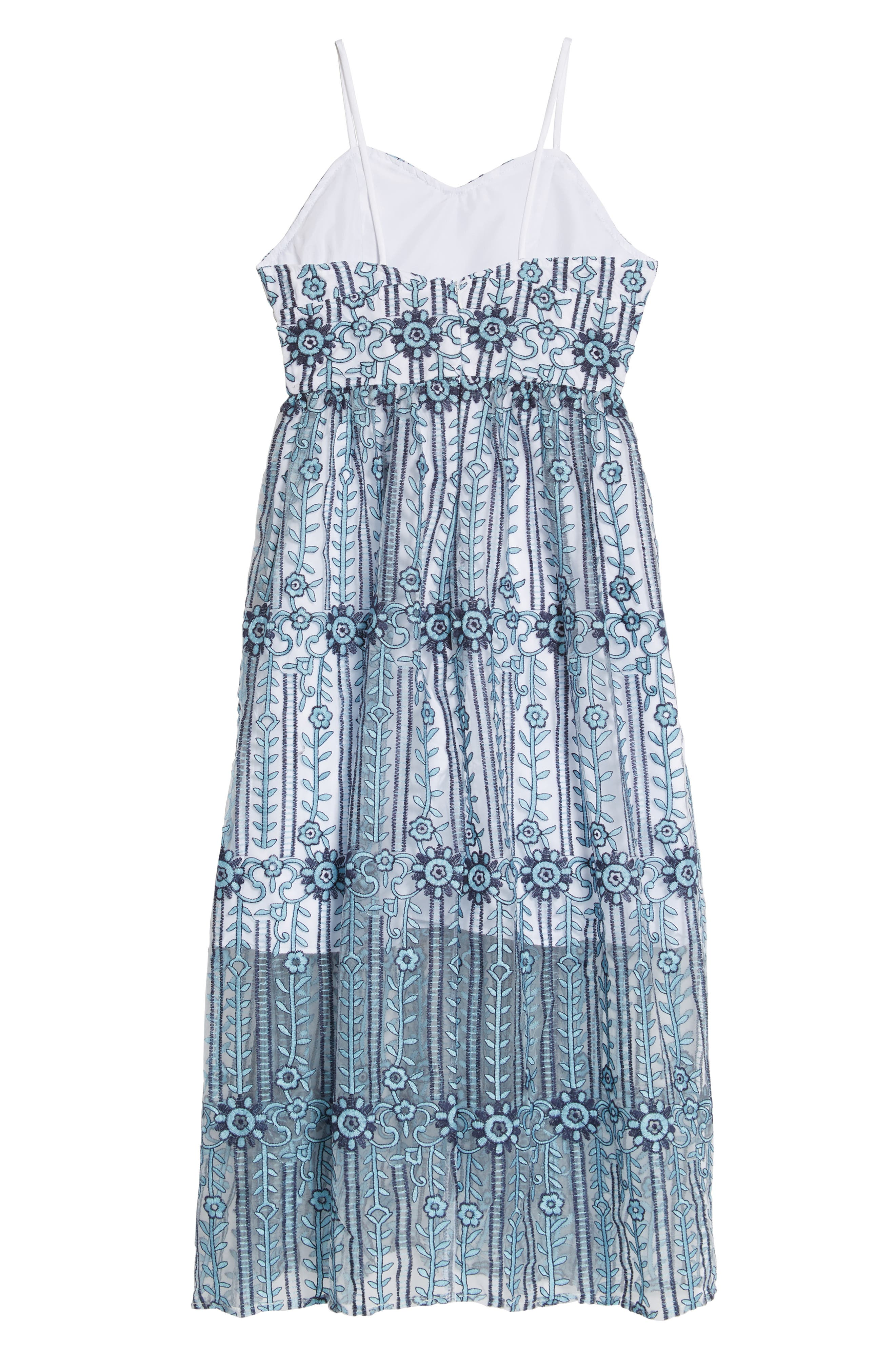 Alternate Image 2  - Pippa & Julie Embroidered Maxi Dress (Big Girls)