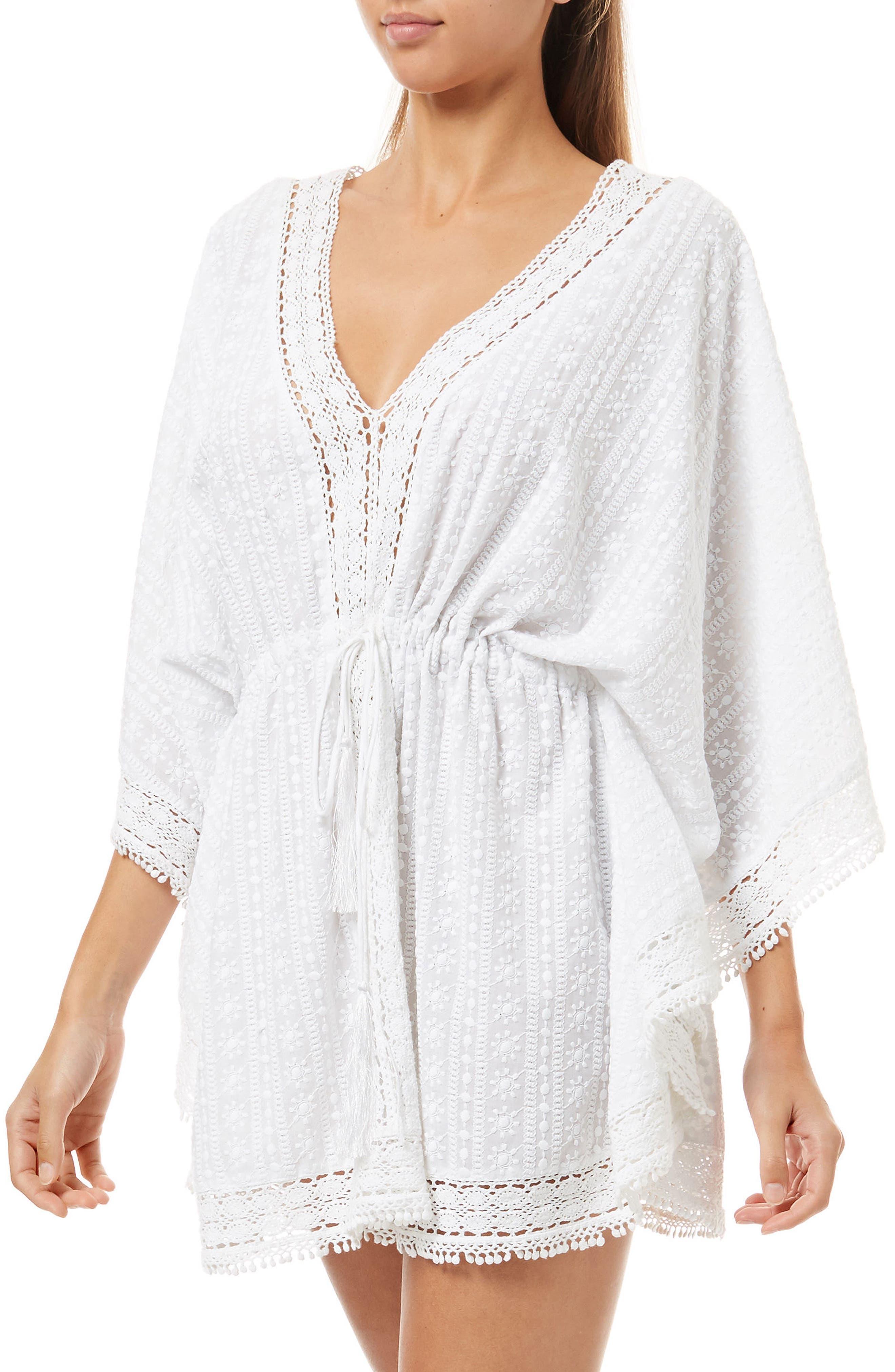 Gigi Cover-Up Caftan,                         Main,                         color, White