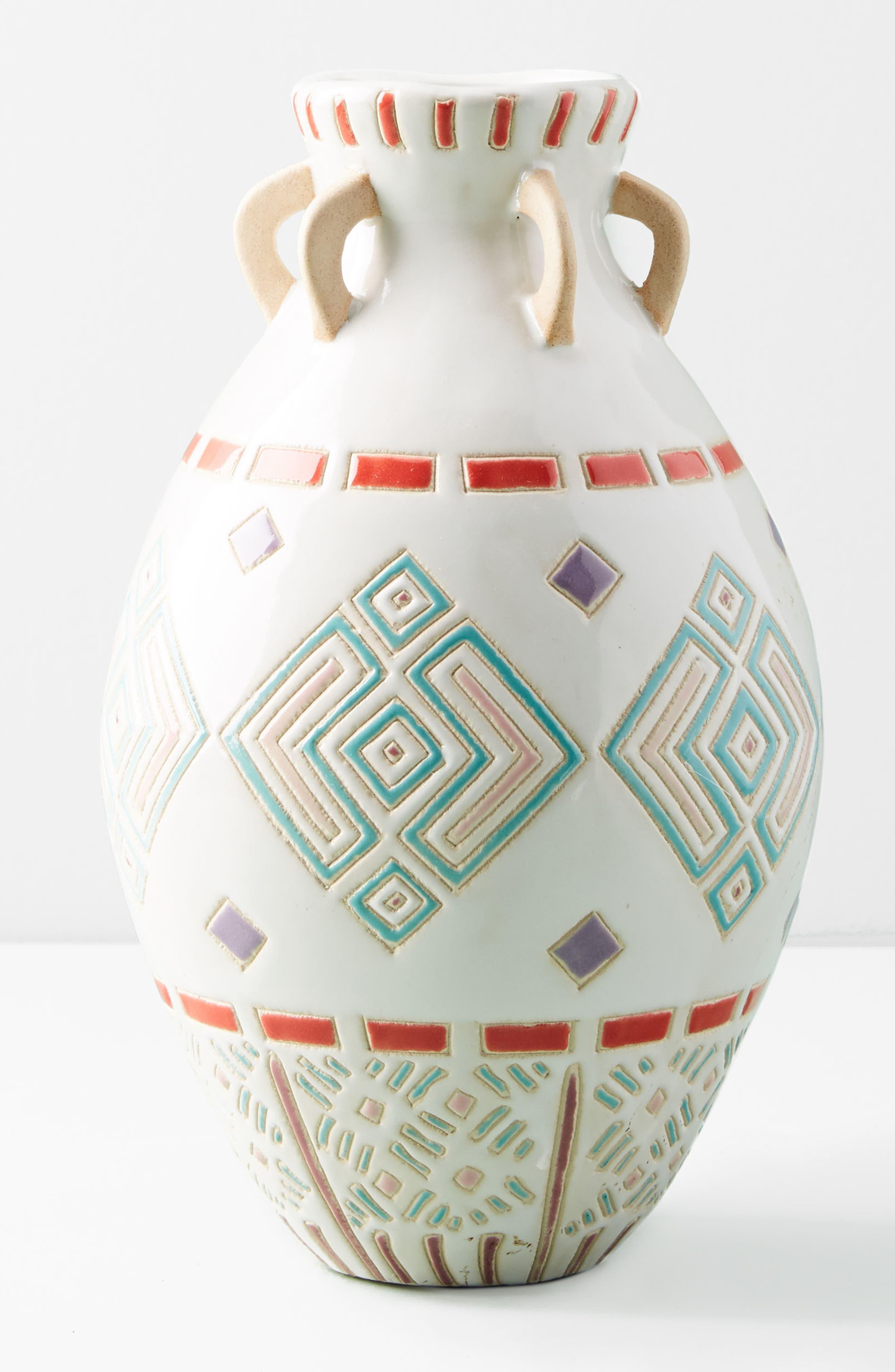 Petra Vase,                             Alternate thumbnail 4, color,                             Black Combo