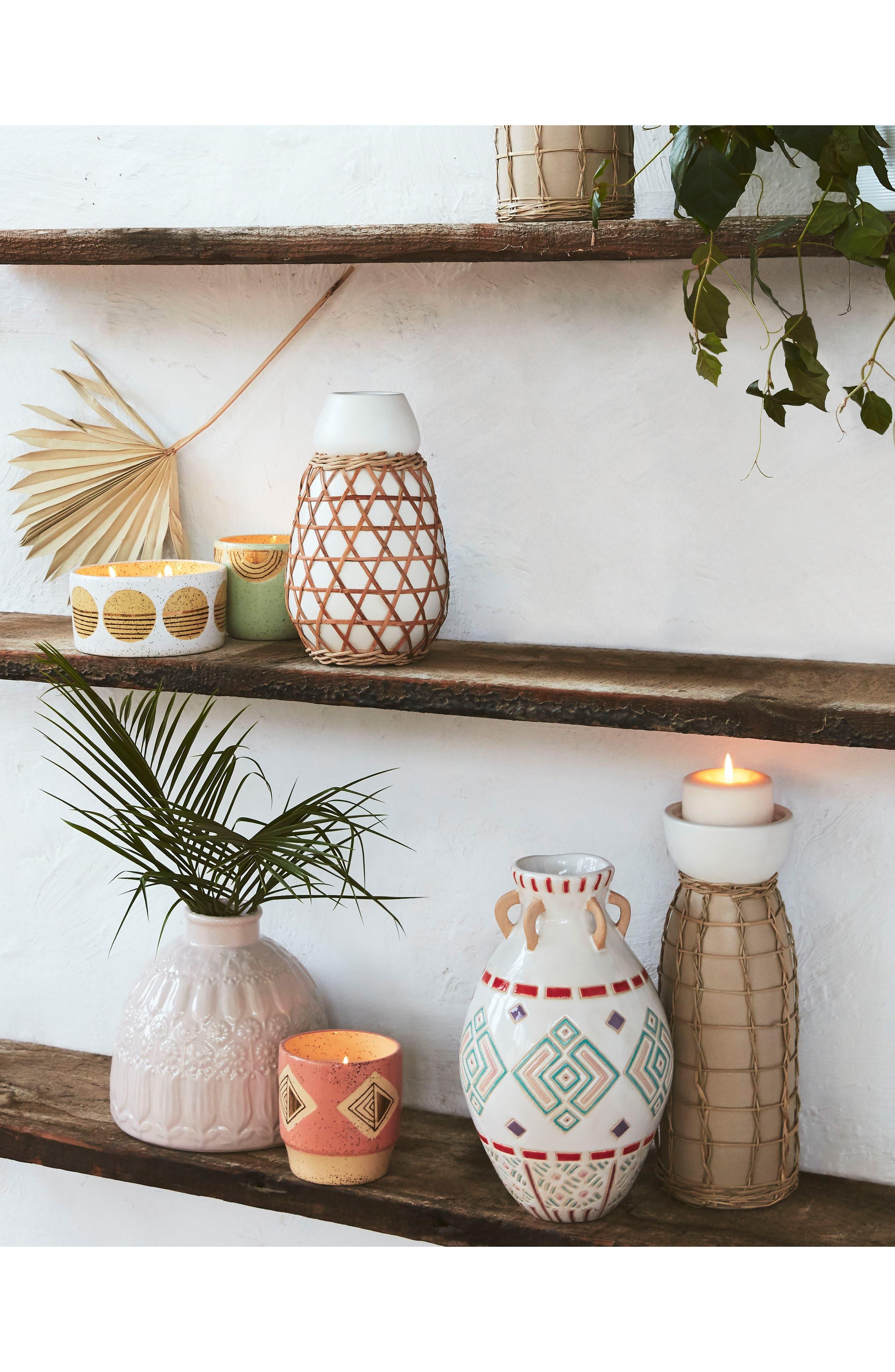 Woven Grass Vase,                             Alternate thumbnail 3, color,                             White