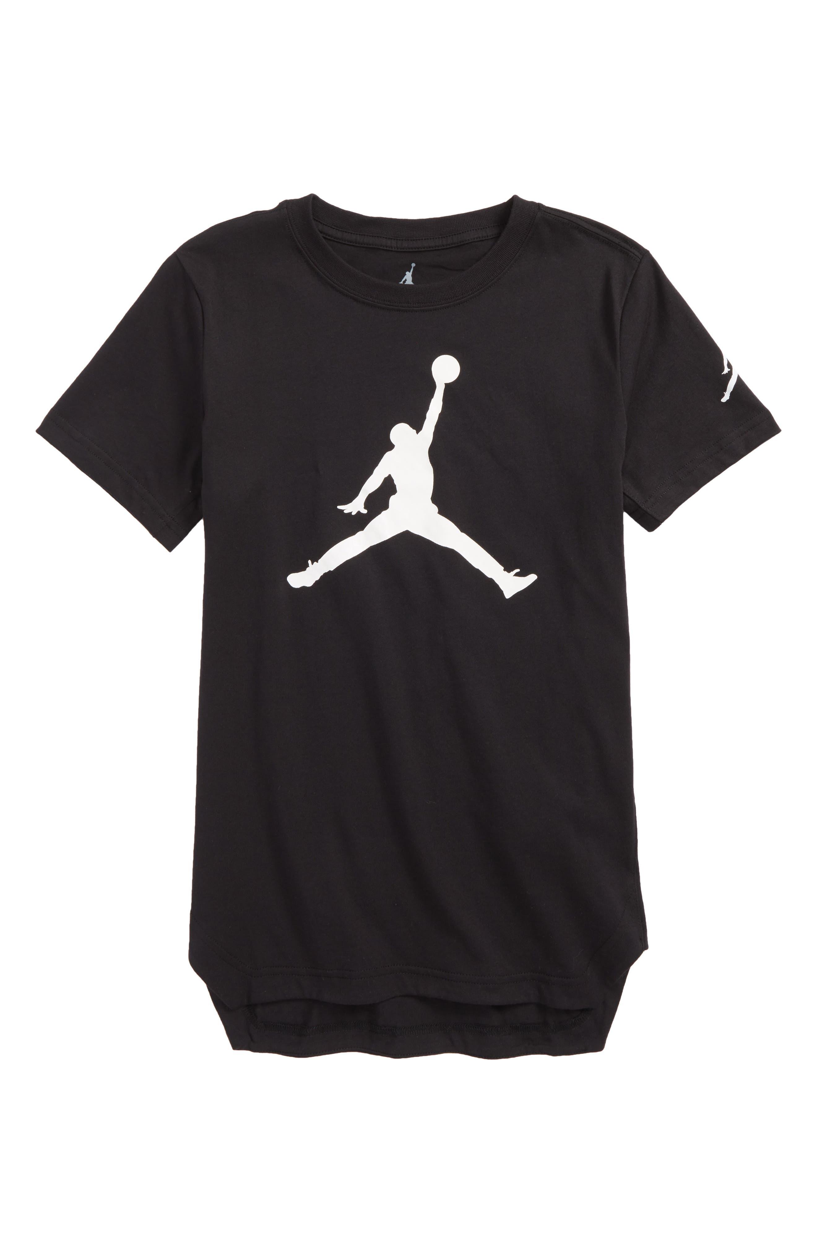 Jordan Jumpman Brand T-Shirt,                             Main thumbnail 1, color,                             Black