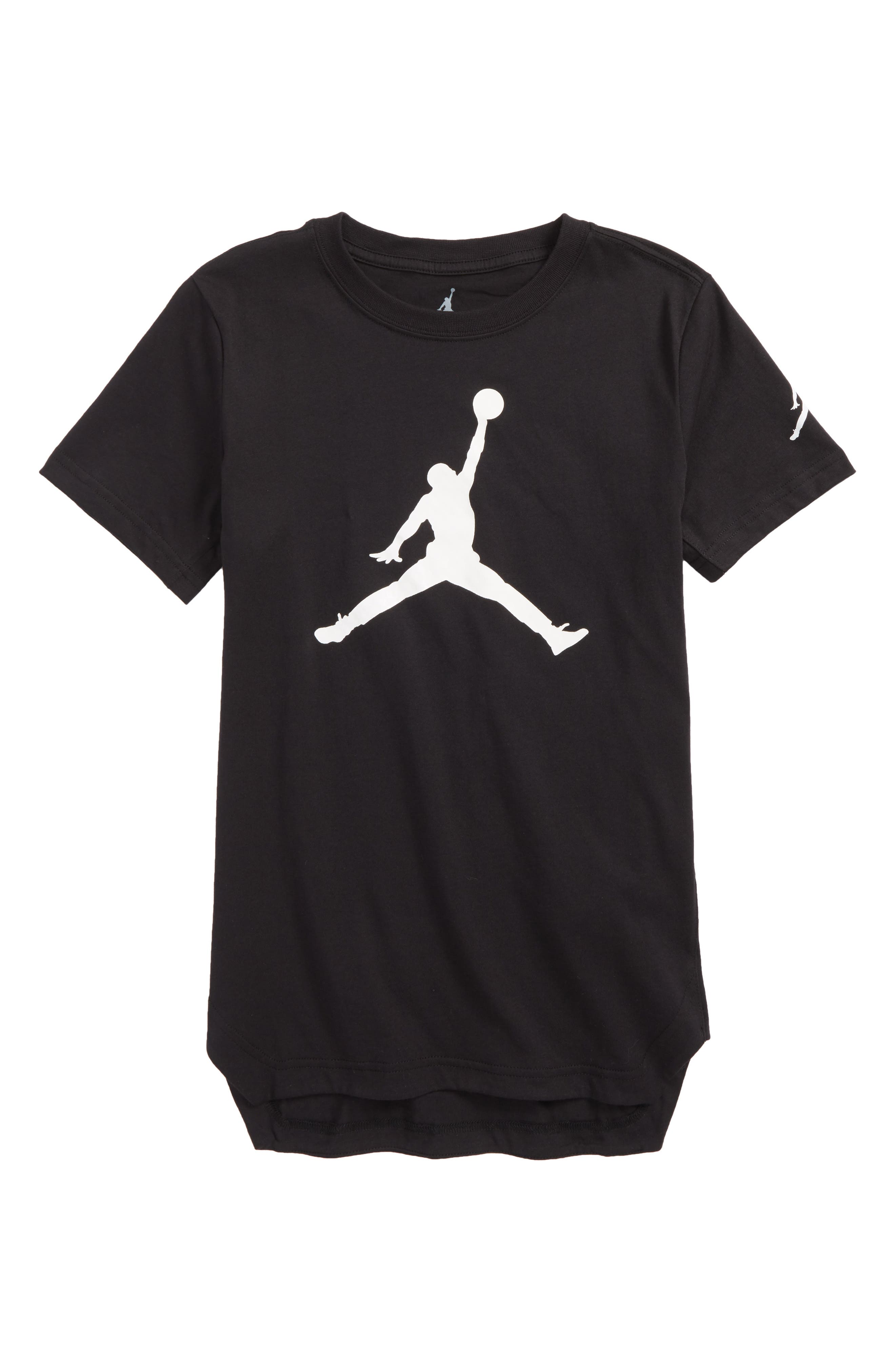 Jordan Jumpman Brand T-Shirt,                         Main,                         color, Black