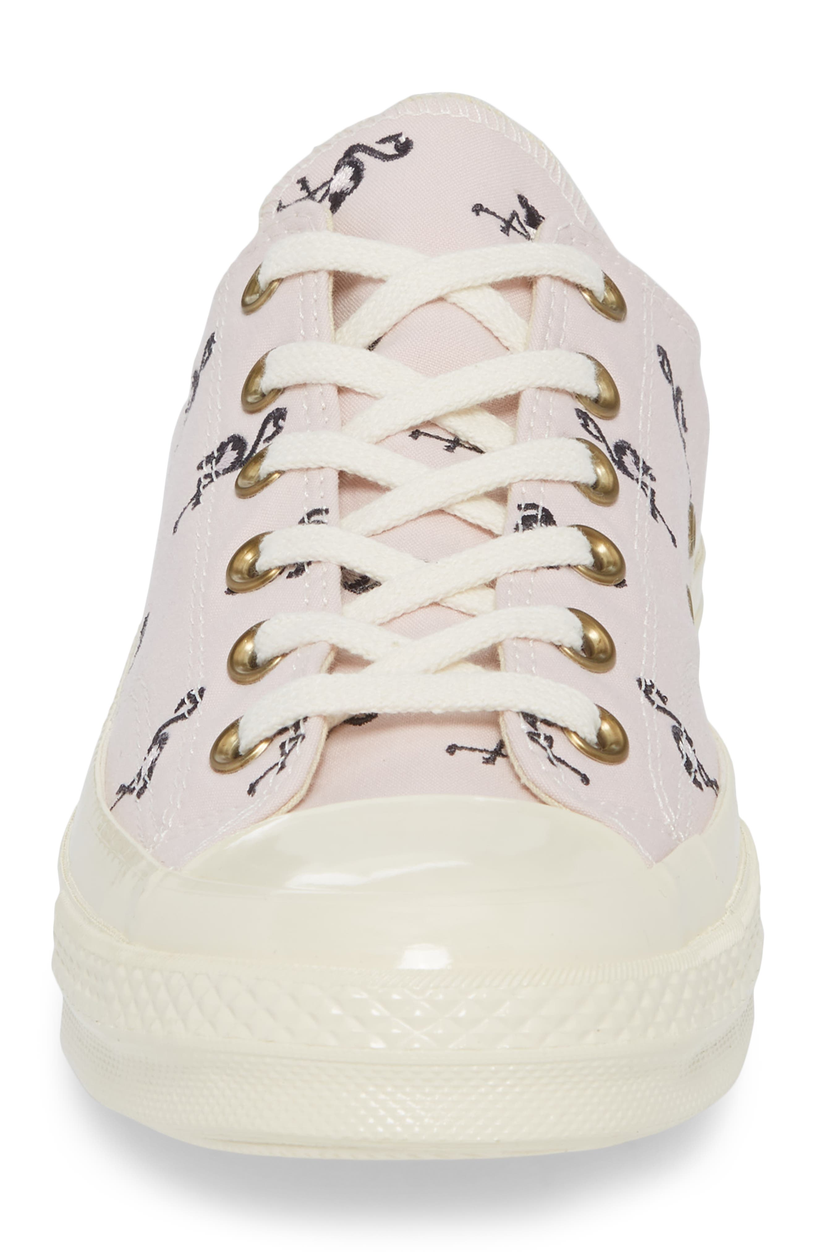 Chuck Taylor<sup>®</sup> All Star<sup>®</sup> 70 Flamingos Low Top Sneaker,                             Alternate thumbnail 4, color,                             Barely Rose