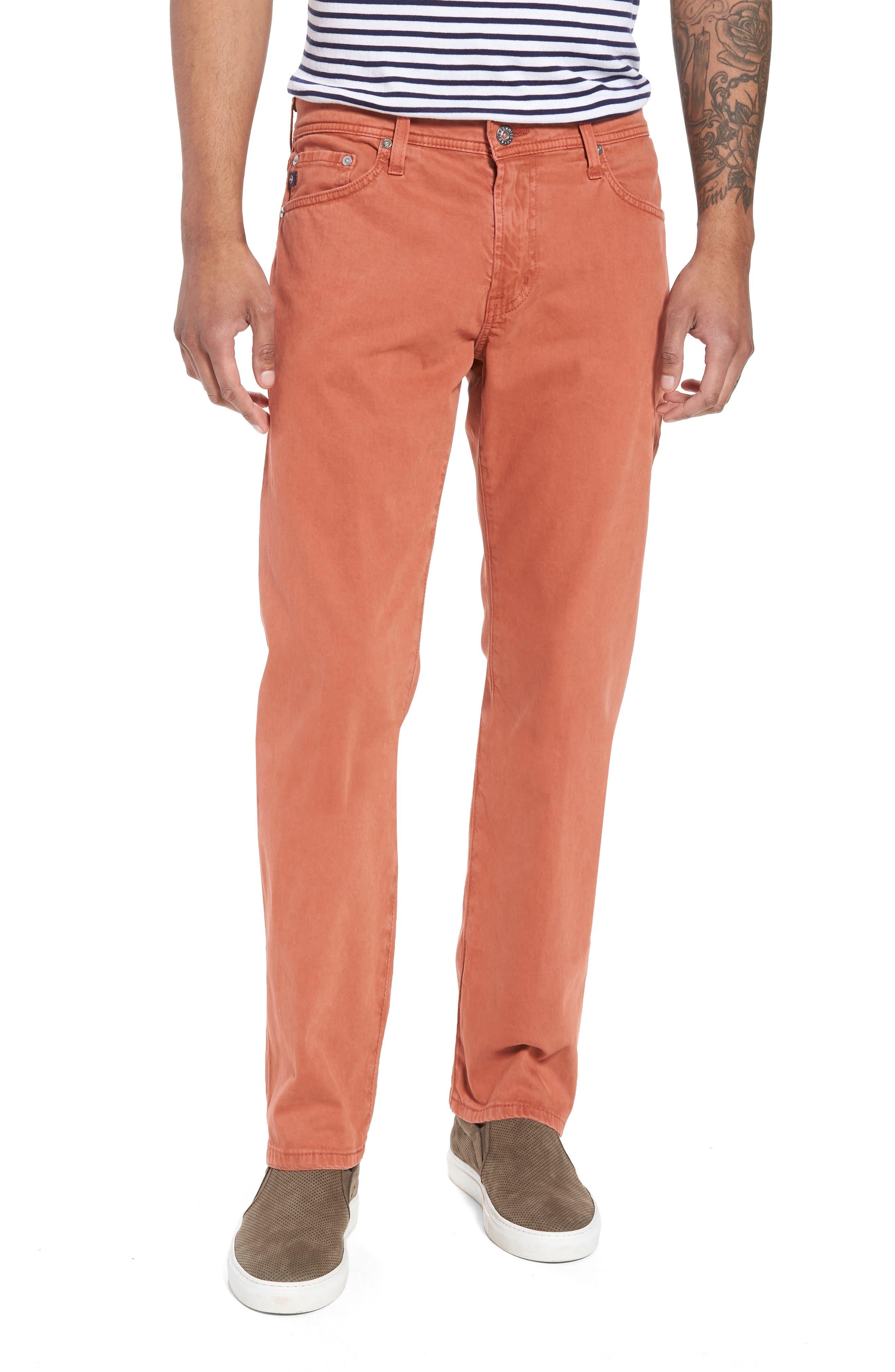 Graduate SUD Slim Straight Leg Pants,                         Main,                         color, Sulfur Rosso Red