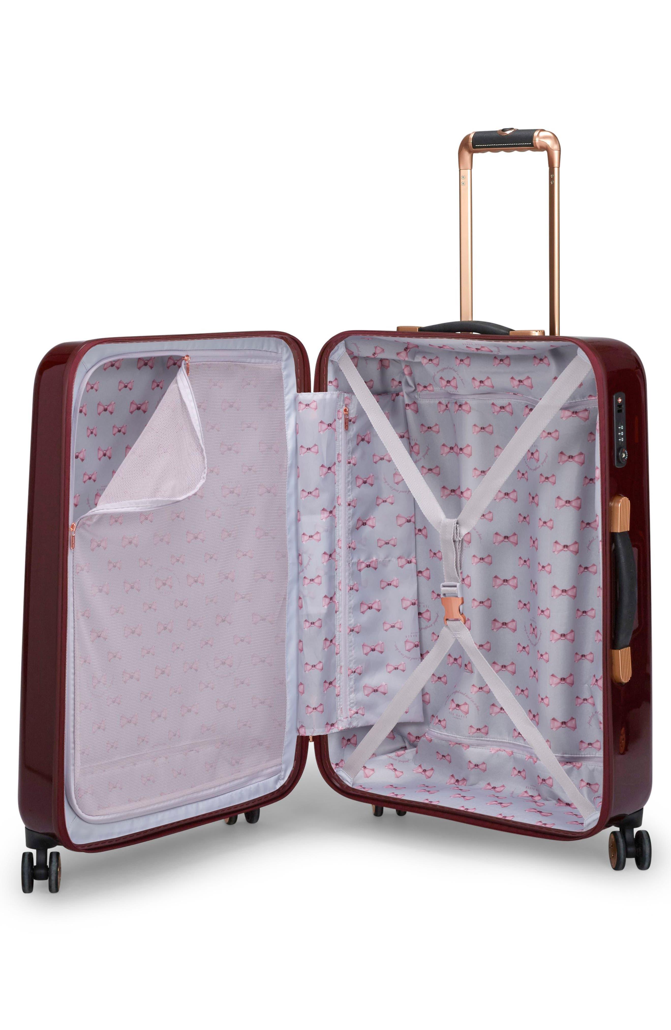 Medium Porcelain Rose 27-Inch Hard Shell Spinner Suitcase,                             Alternate thumbnail 2, color,                             Burgundy