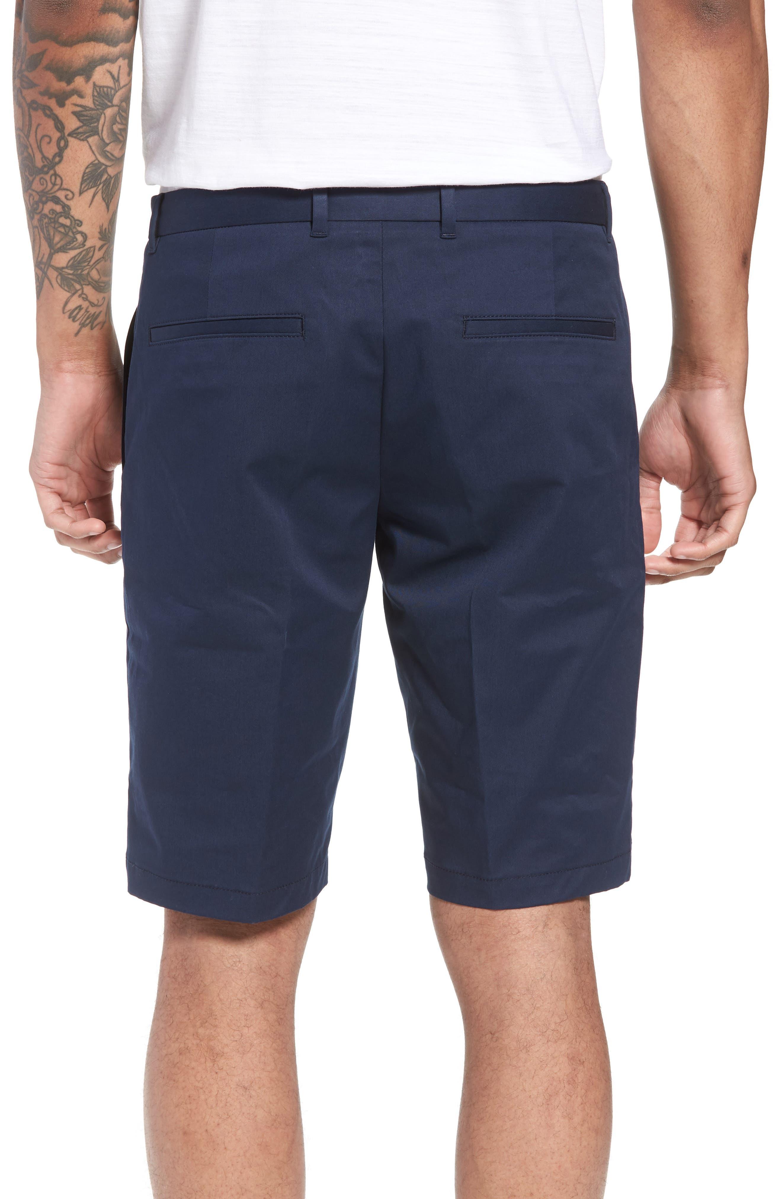 Hano Flat Front Shorts,                             Alternate thumbnail 2, color,                             Blue