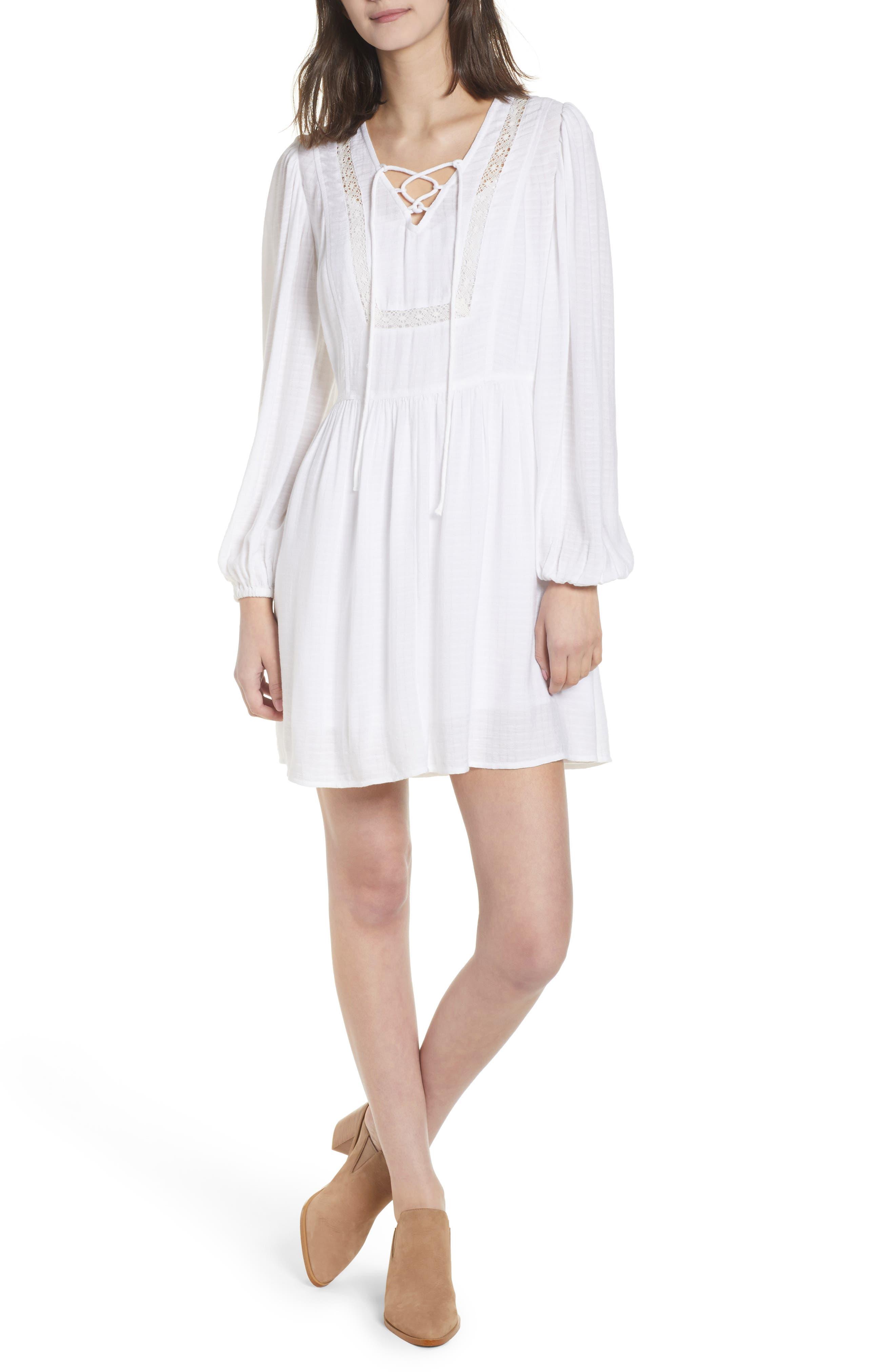 Hinge Lace-Up Dress