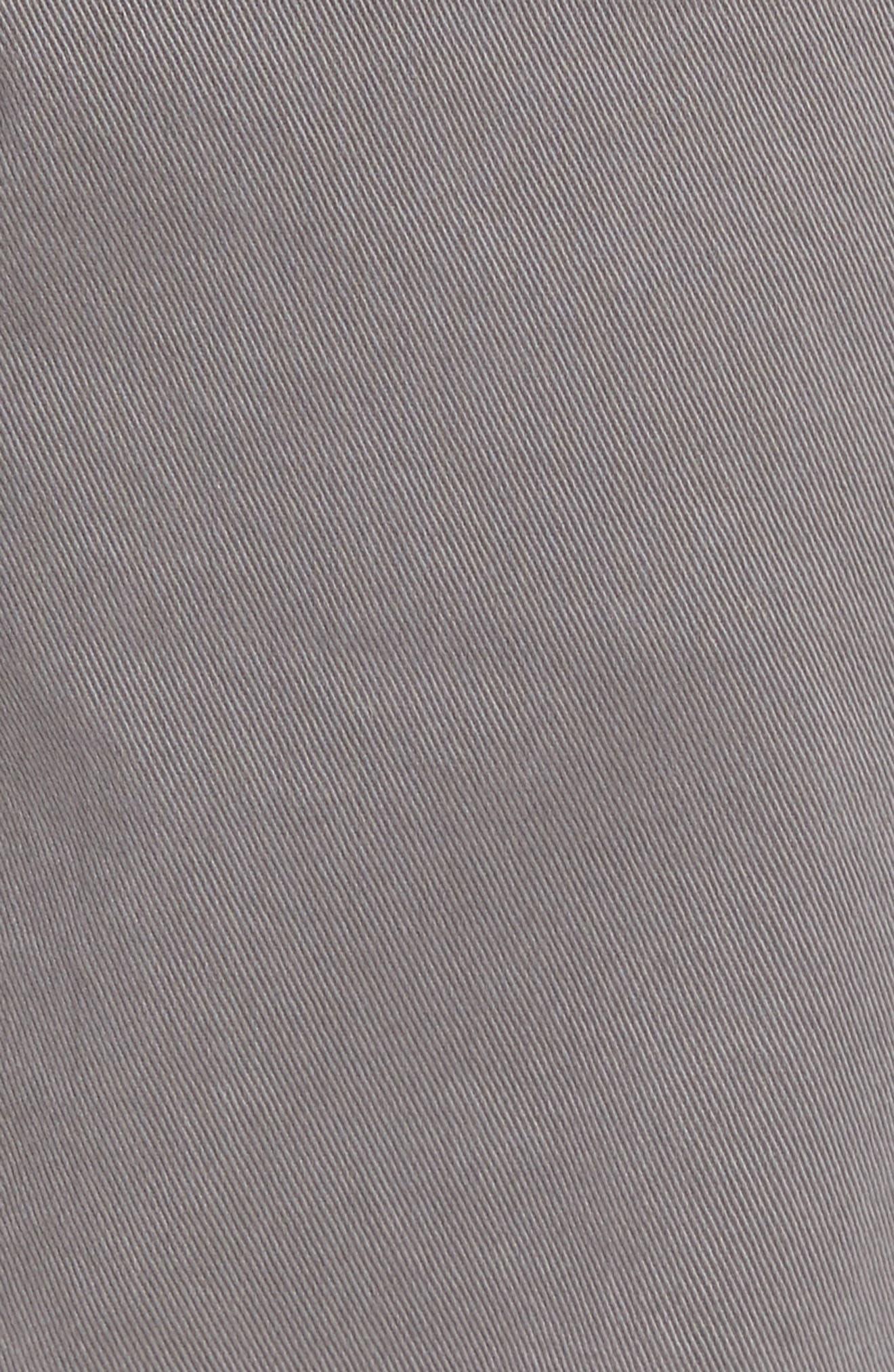 'Federal' Slim Straight Leg Twill Pants,                             Alternate thumbnail 4, color,                             Granite Stone
