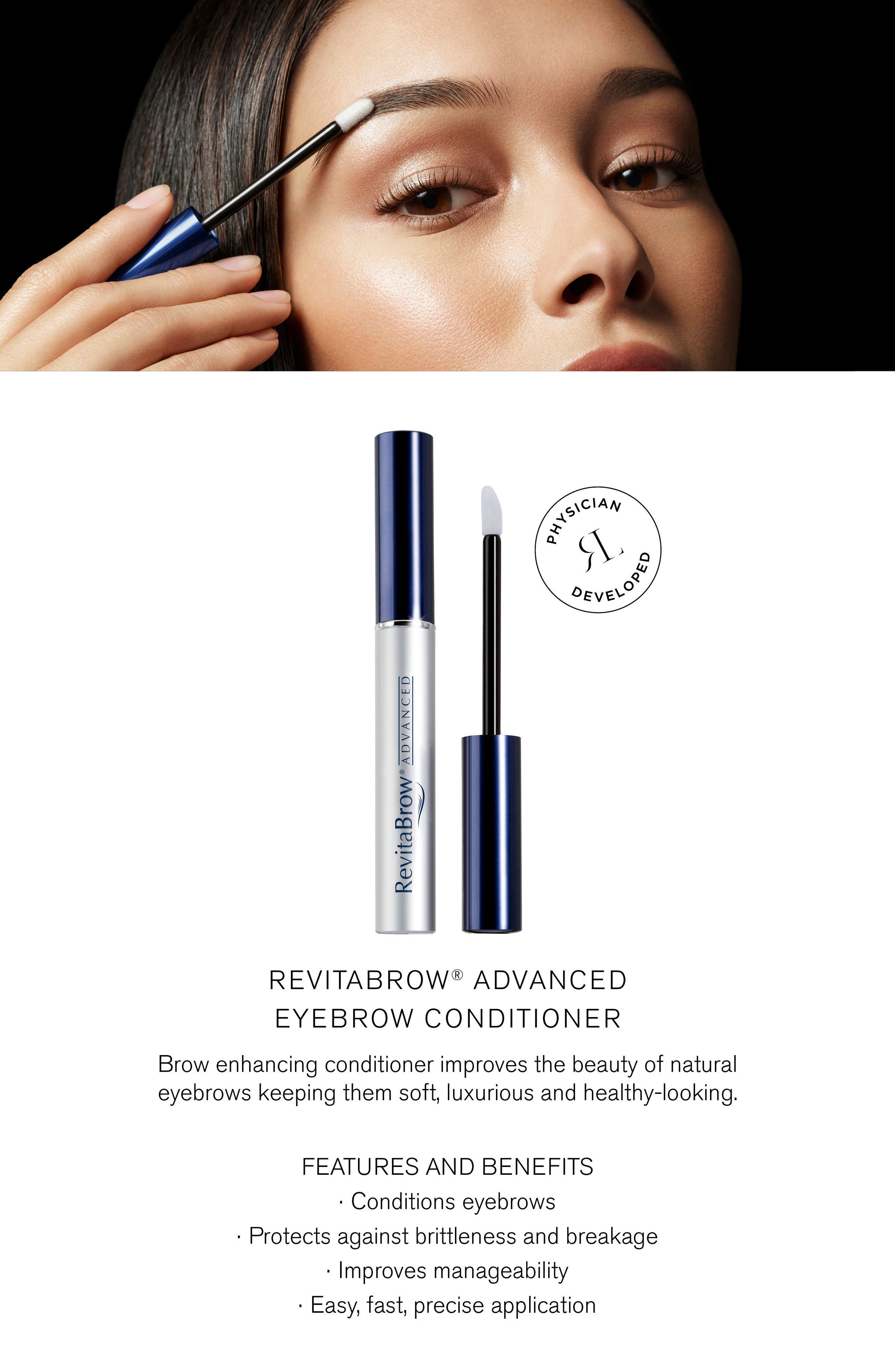 RevitaBrow<sup>®</sup> ADVANCED Eyebrow Conditioner,                             Alternate thumbnail 2, color,                             No Color