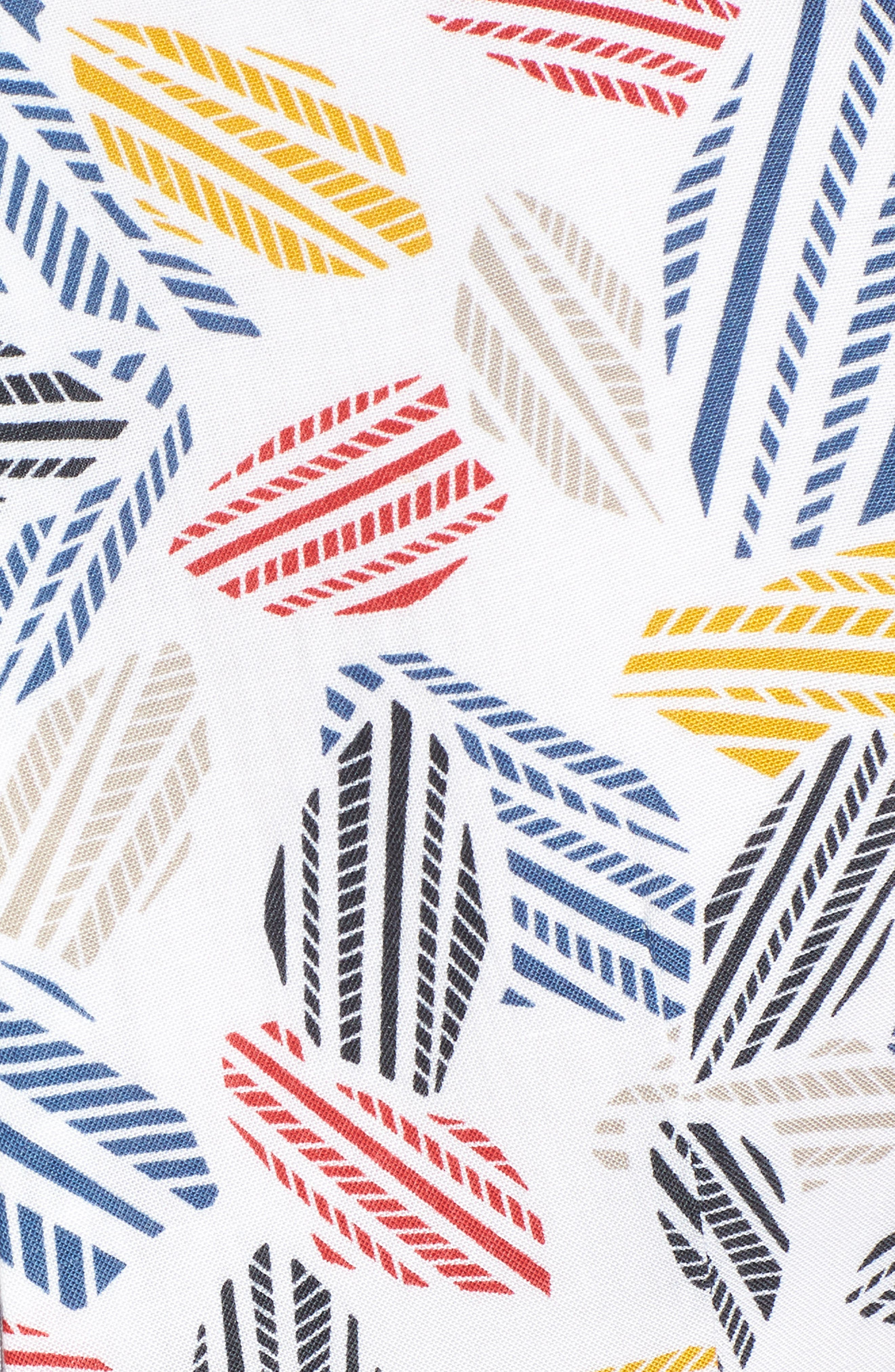 Print Midi Dress,                             Alternate thumbnail 6, color,                             Optic White/ Tomato Combo