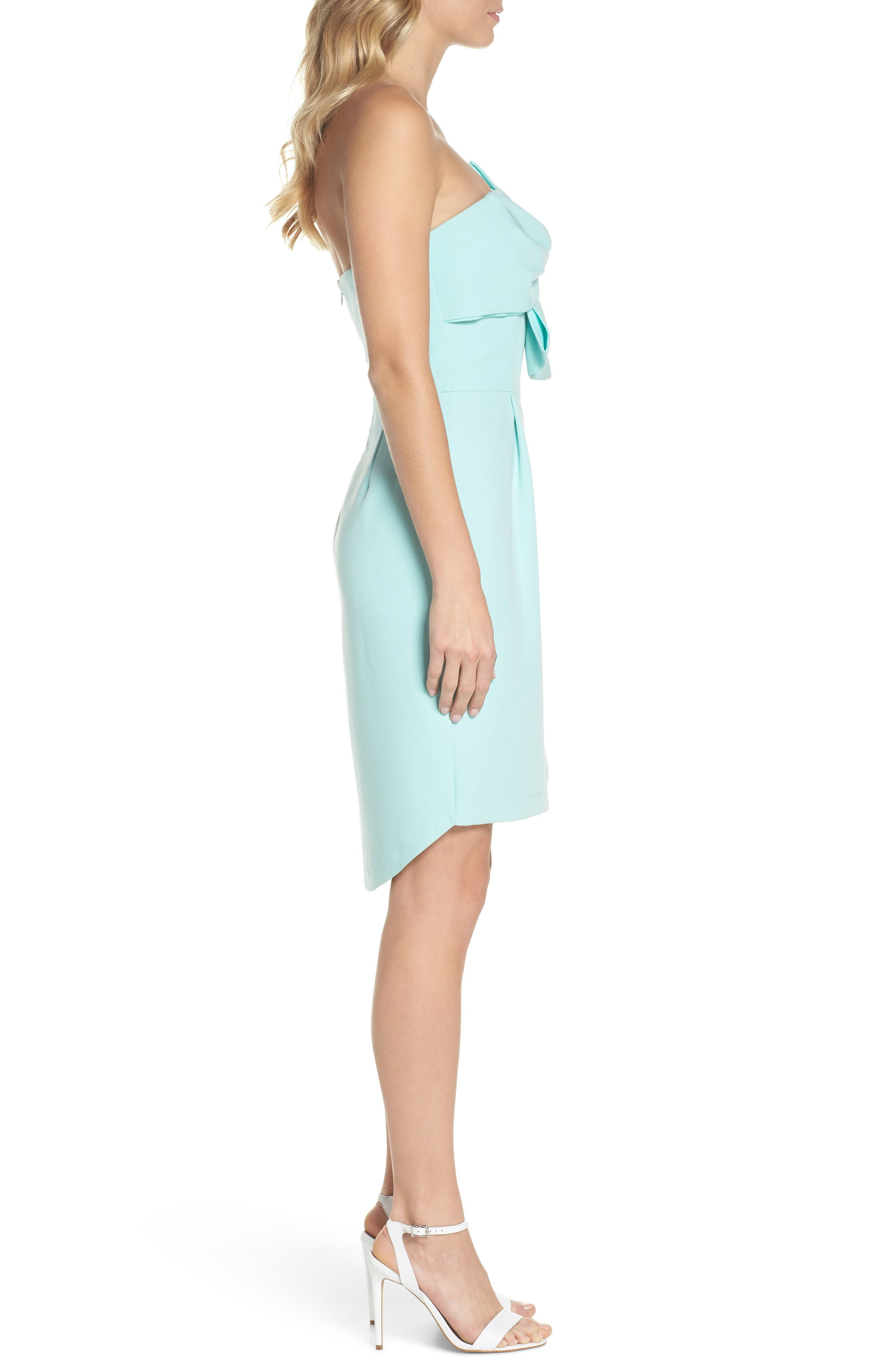 Alternate Image 3  - Adelyn Rae Krissy Twist Front Strapless Dress
