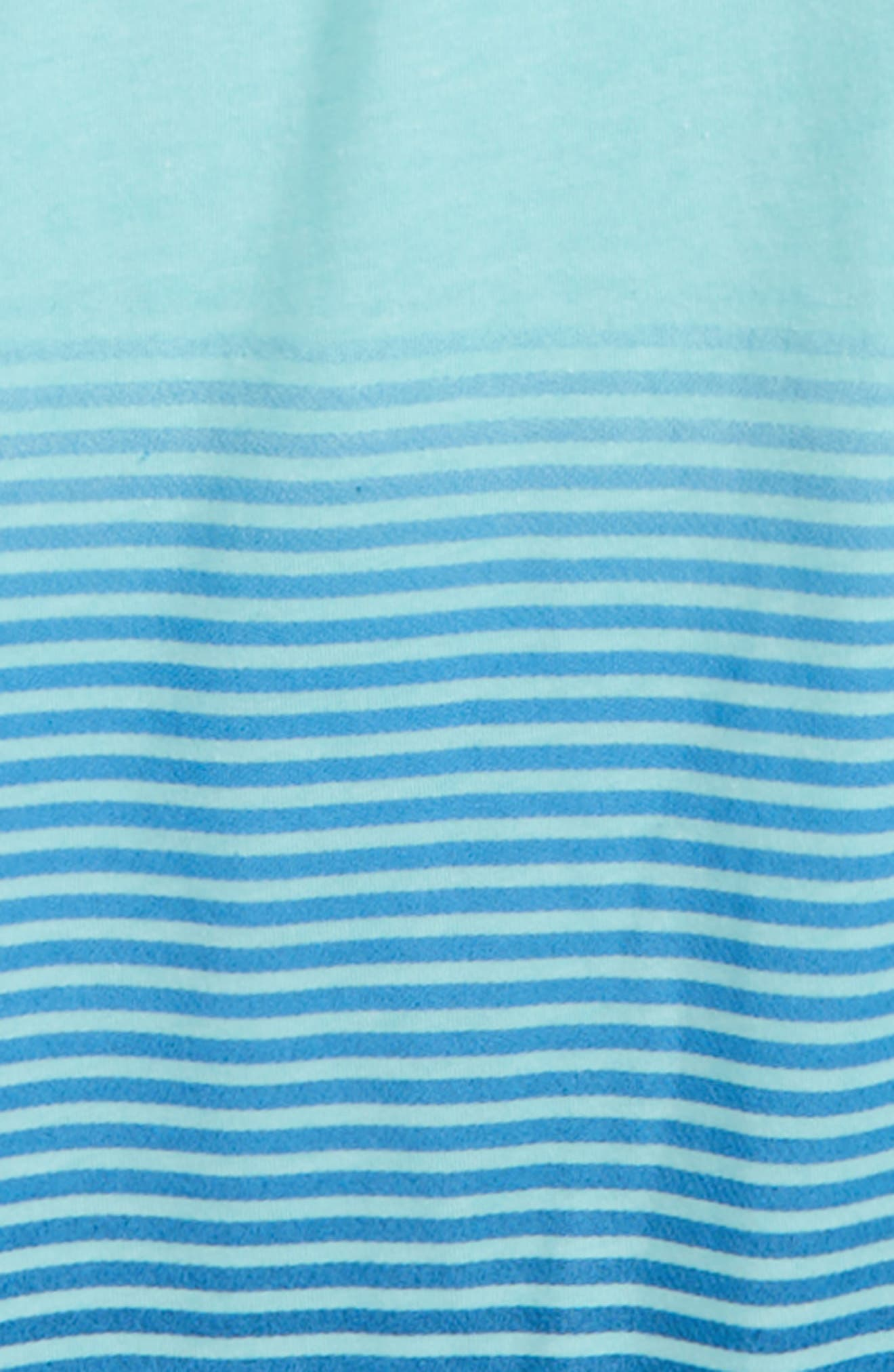 Ombré Stripe T-Shirt,                             Alternate thumbnail 2, color,                             Light Aqua Heather
