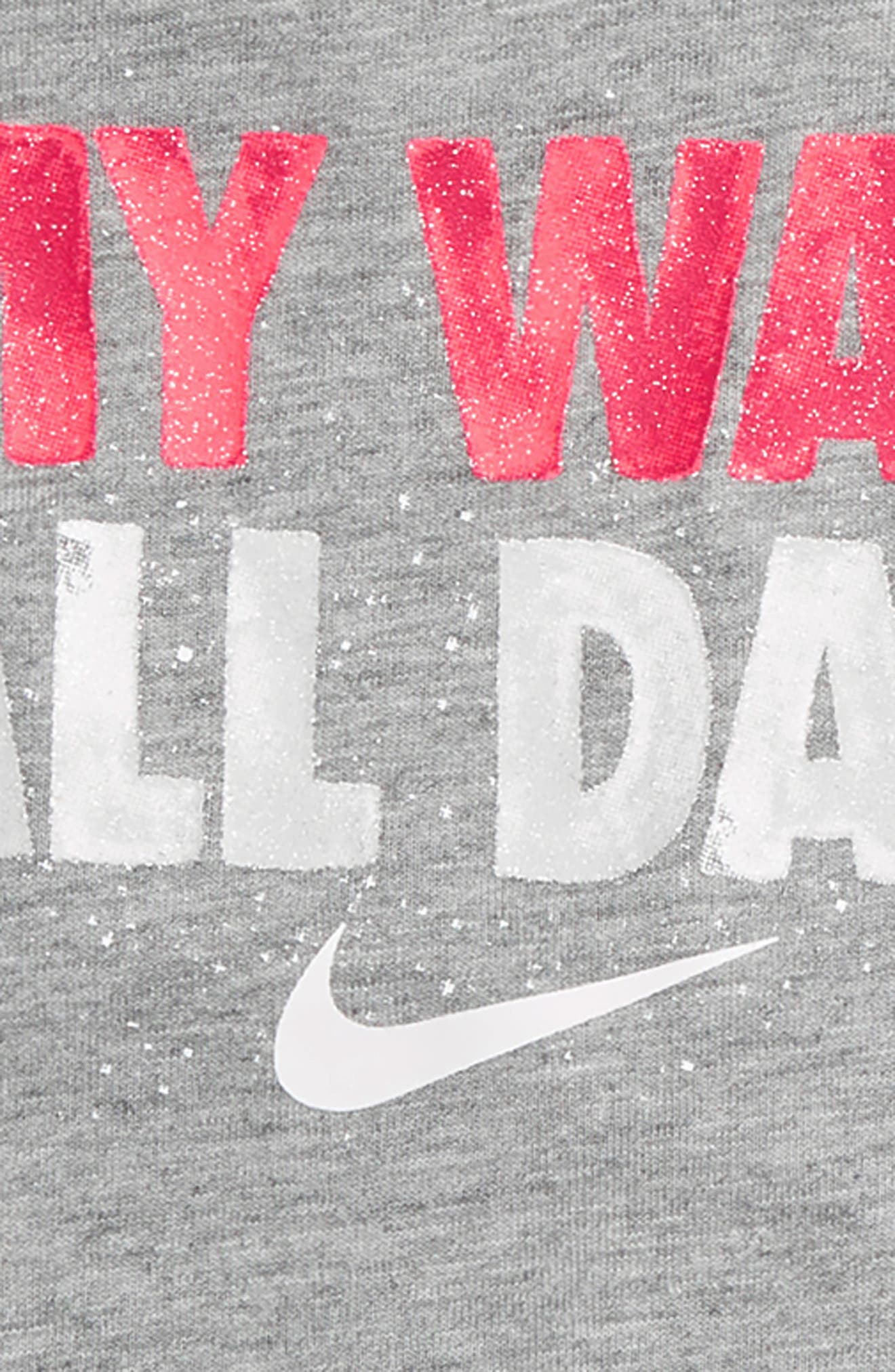 Alternate Image 2  - Nike My Way All Day Graphic Tee & Shorts Set (Baby Girls)
