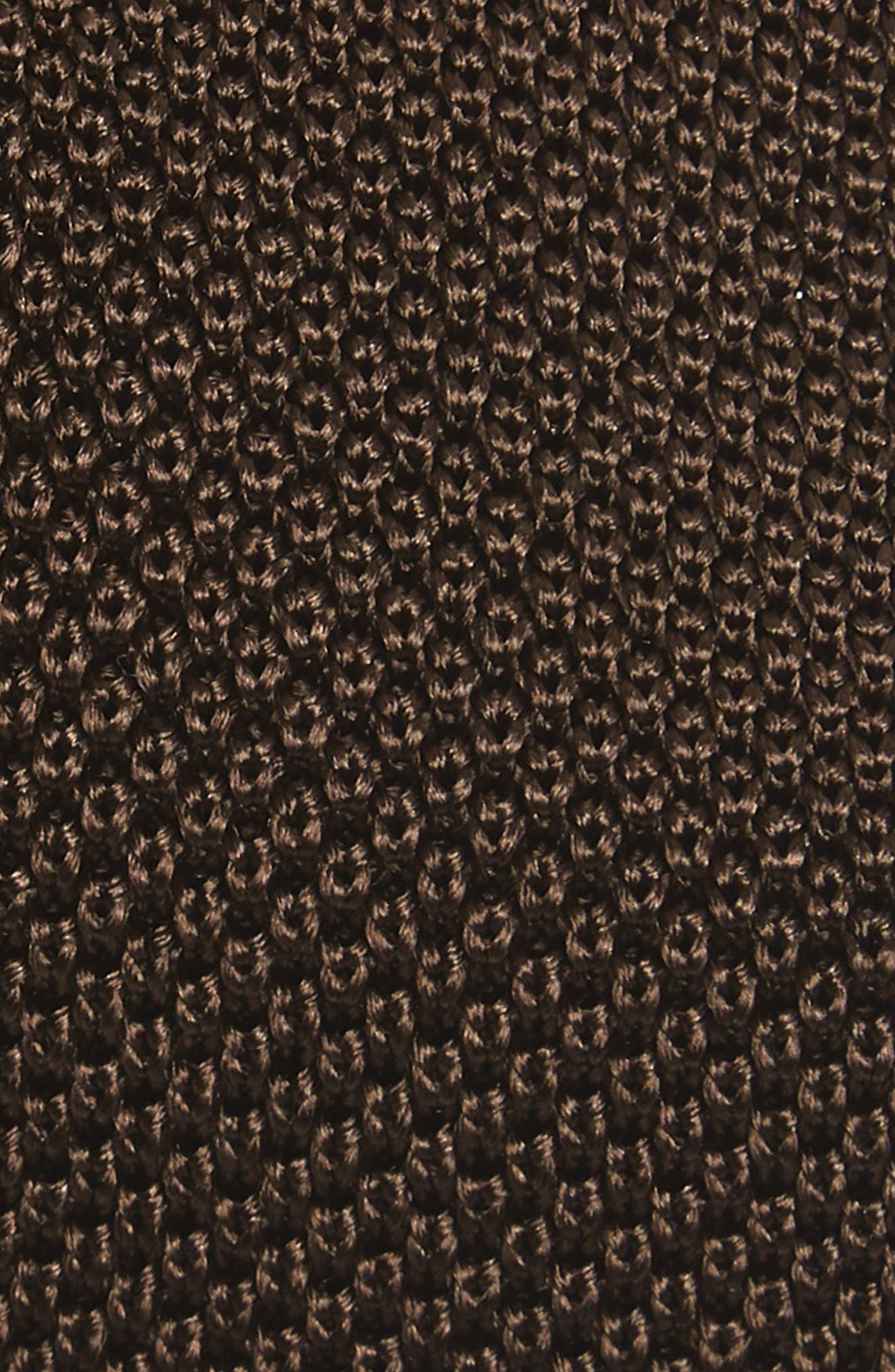 Egeo Knit Silk Tie,                             Alternate thumbnail 2, color,                             Brown