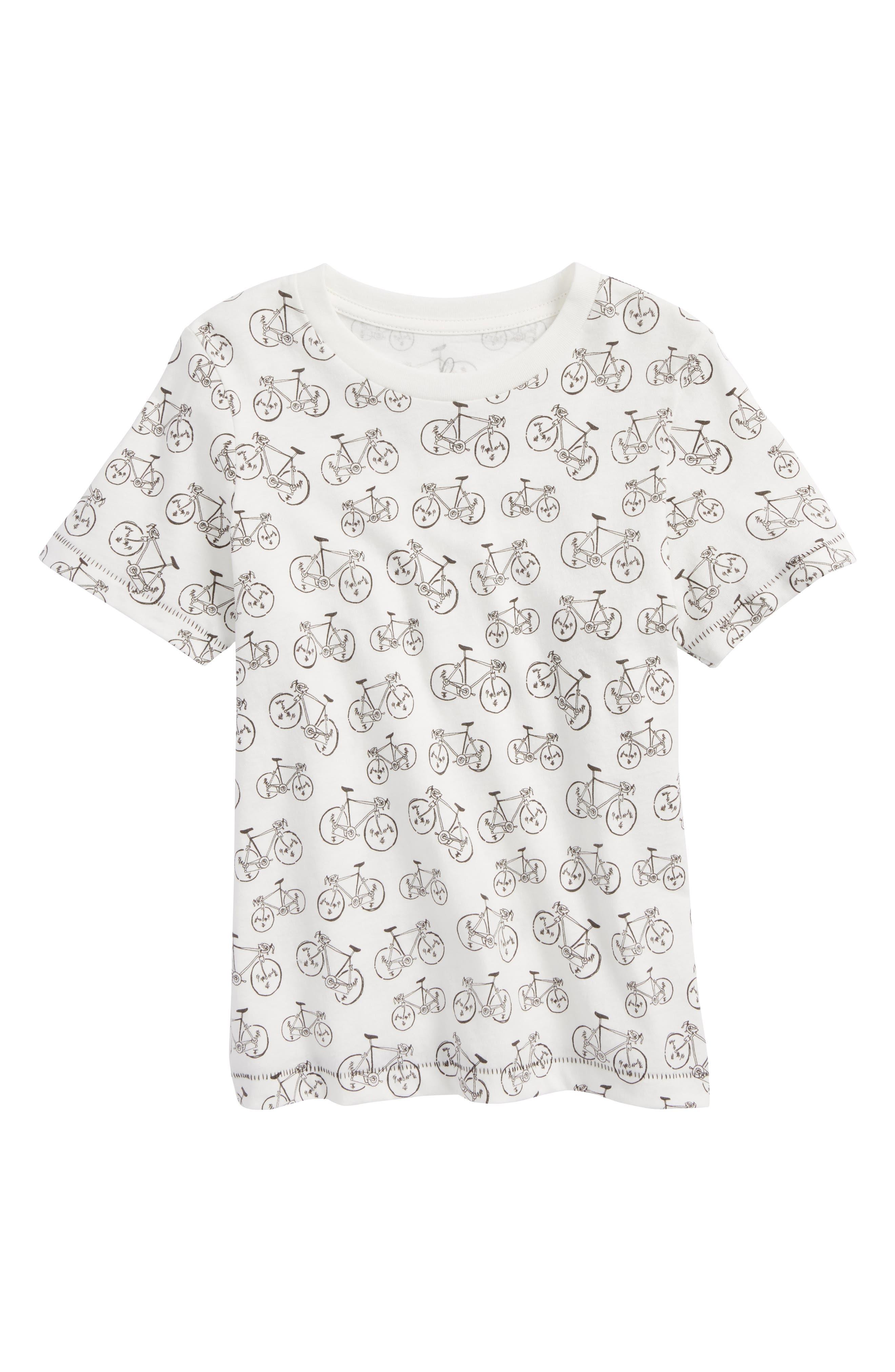 Bike Print T-Shirt,                         Main,                         color, Ivory