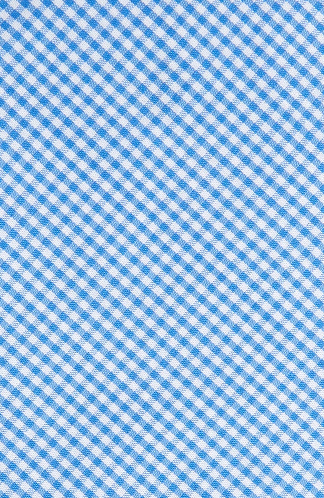 Sydney Check Cotton Skinny Tie,                             Alternate thumbnail 2, color,                             Light Blue
