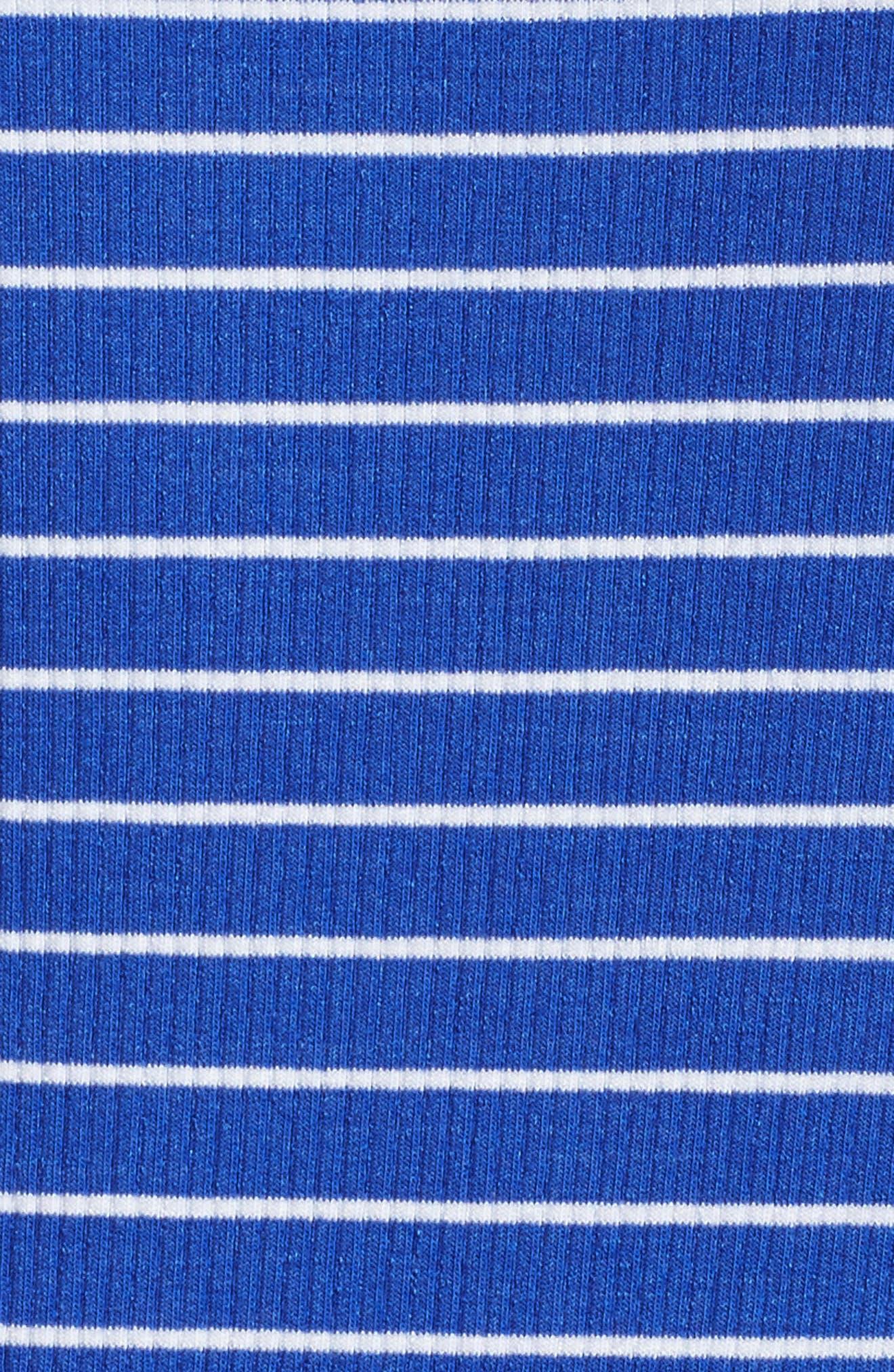 Marlowe Shift Dress,                             Alternate thumbnail 5, color,                             Beckon Blue Breeze Stripe