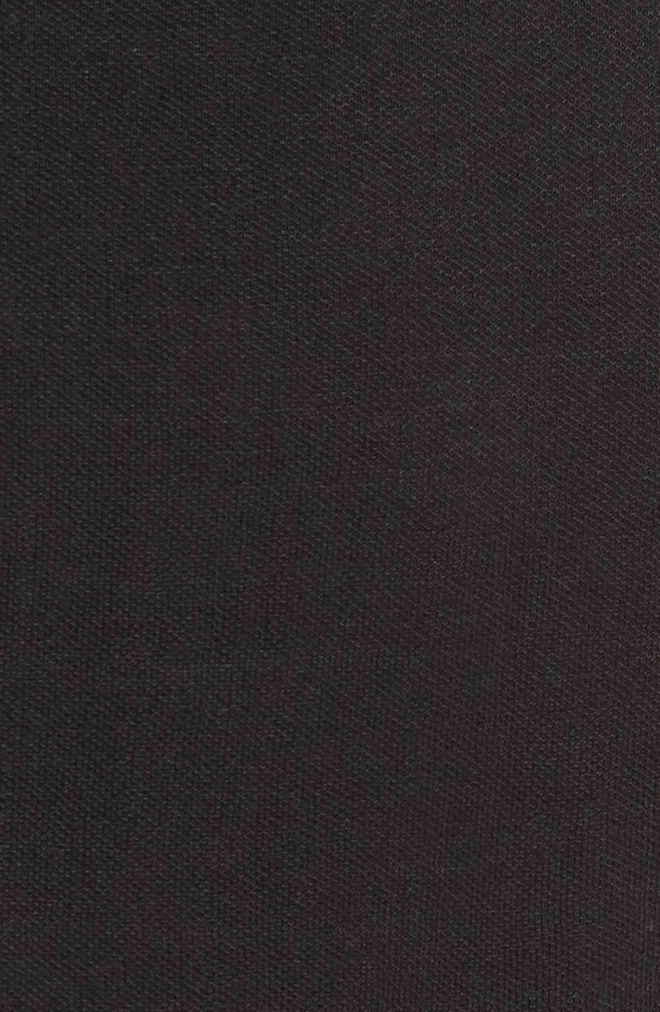 Knit Moto Jacket,                             Alternate thumbnail 5, color,                             Black