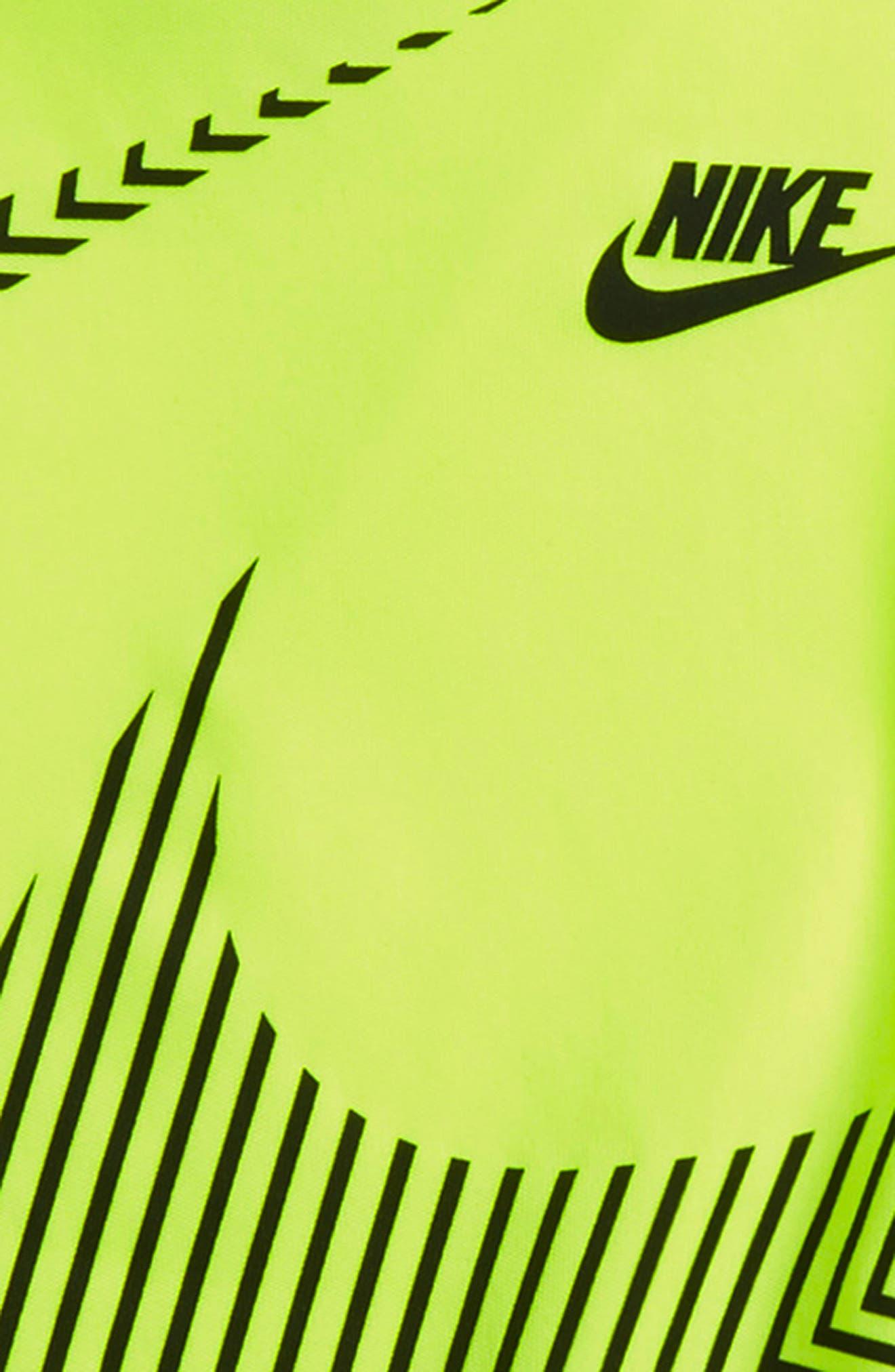 Alternate Image 2  - Nike Wrap Around Swoosh Dry Shirt & Shorts Set (Baby Boys)