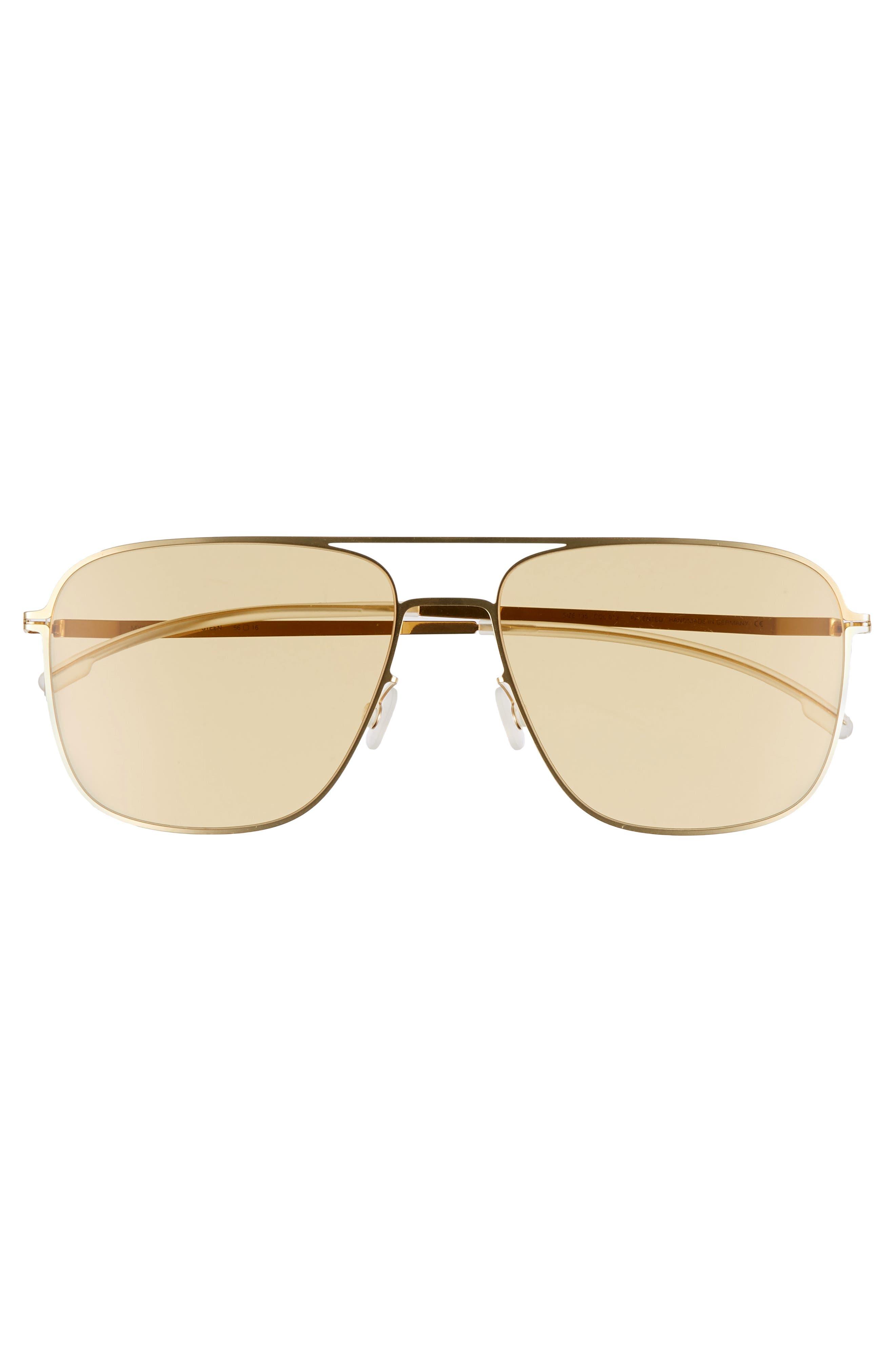 Steen 56mm Aviator Sunglasses,                             Alternate thumbnail 2, color,                             Glossy Gold