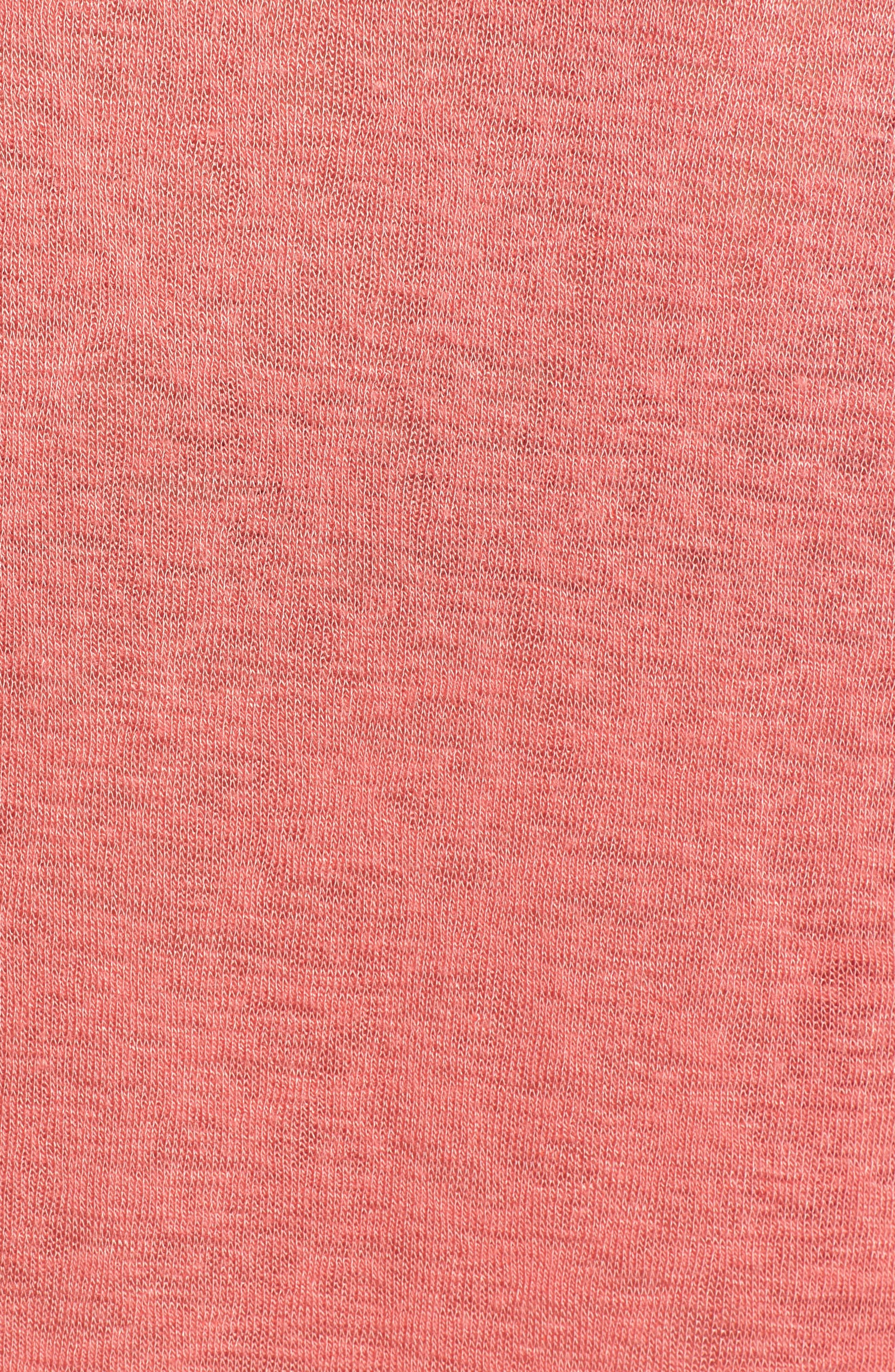 Tuck Sleeve Sweatshirt,                             Alternate thumbnail 6, color,                             Coral Rose