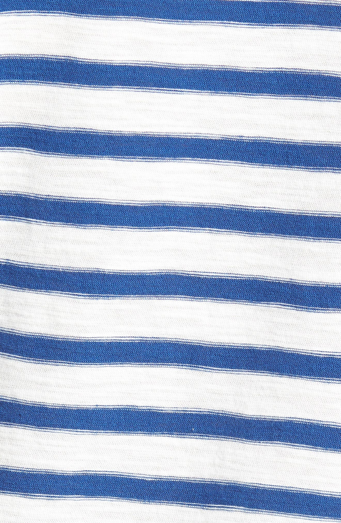 Stripe Henley T-Shirt,                             Alternate thumbnail 5, color,                             Gold Coast Print