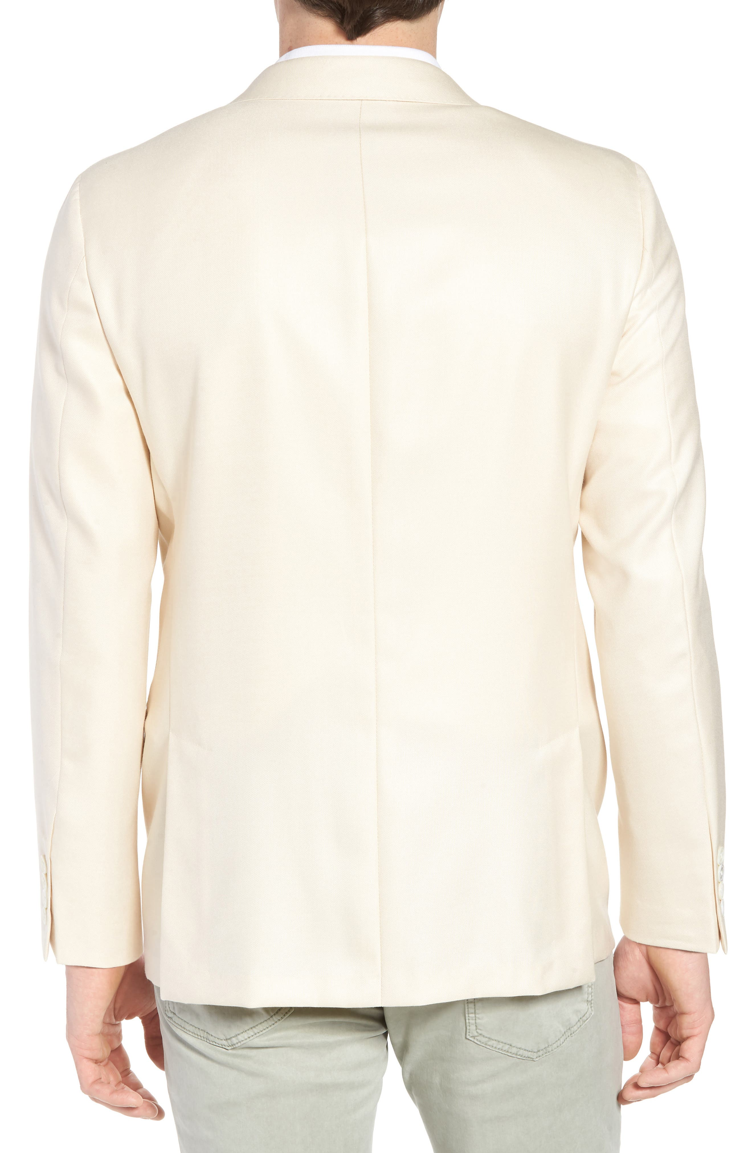 Classic B Fit Wool & Silk Blazer,                             Alternate thumbnail 2, color,                             Ivory Solid